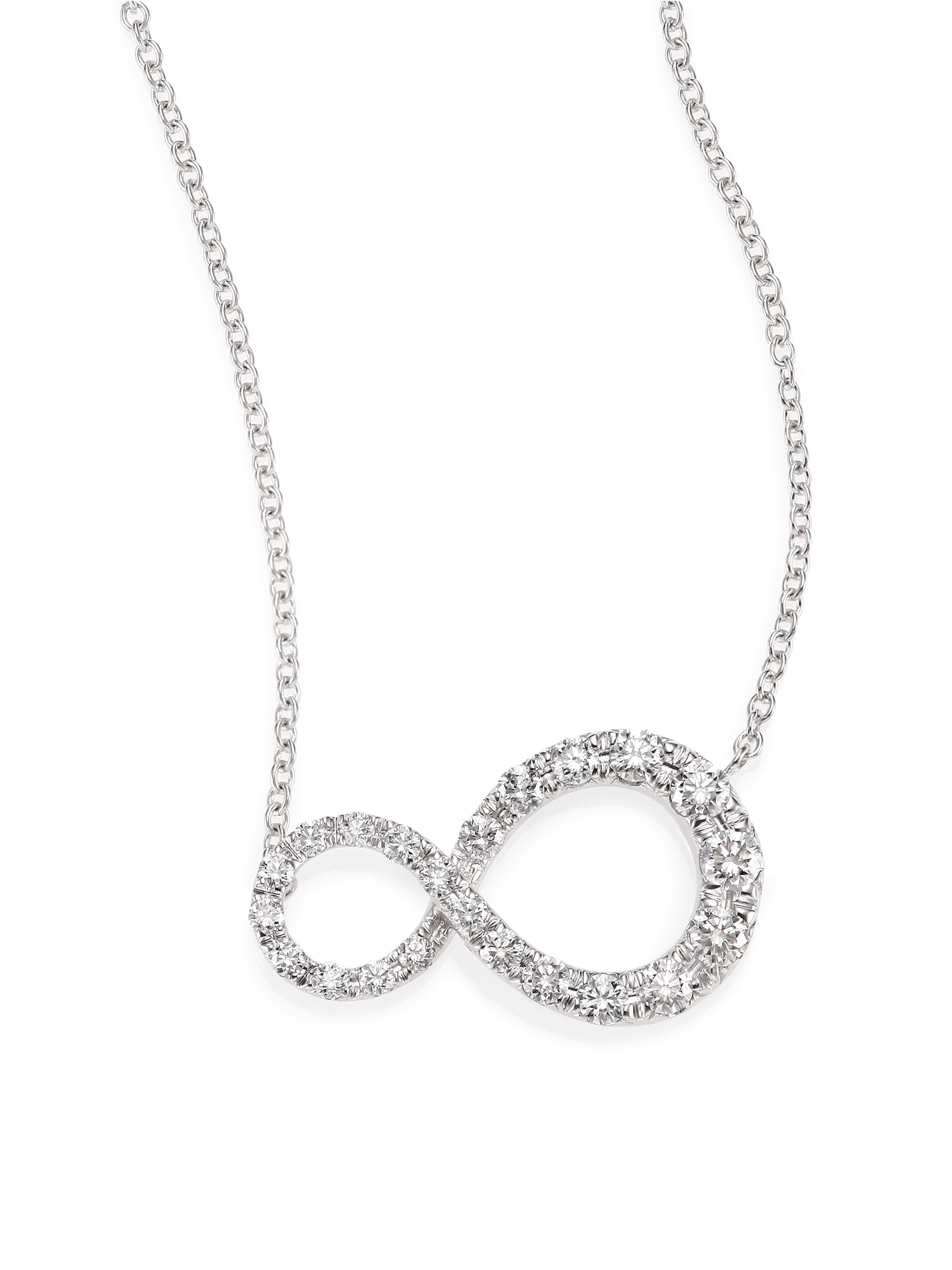 Kwiat Elements Diamond & 18K White Gold Infinity Pendant Necklace In Most Up To Date Sparkling Infinity Locket Element Necklaces (View 19 of 25)
