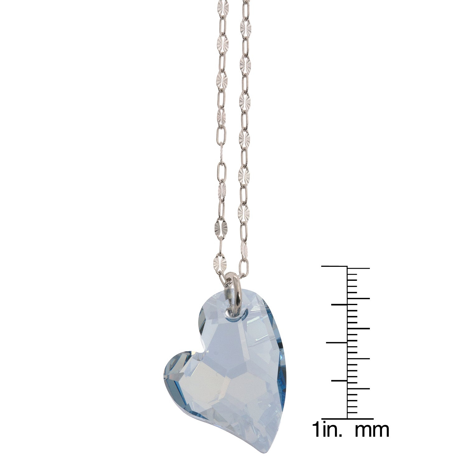 La Preciosa Silver Crystal Heart Necklace Made With Swarovski Elements Regarding Most Recent Heart Padlock Locket Element Necklaces (Gallery 21 of 25)