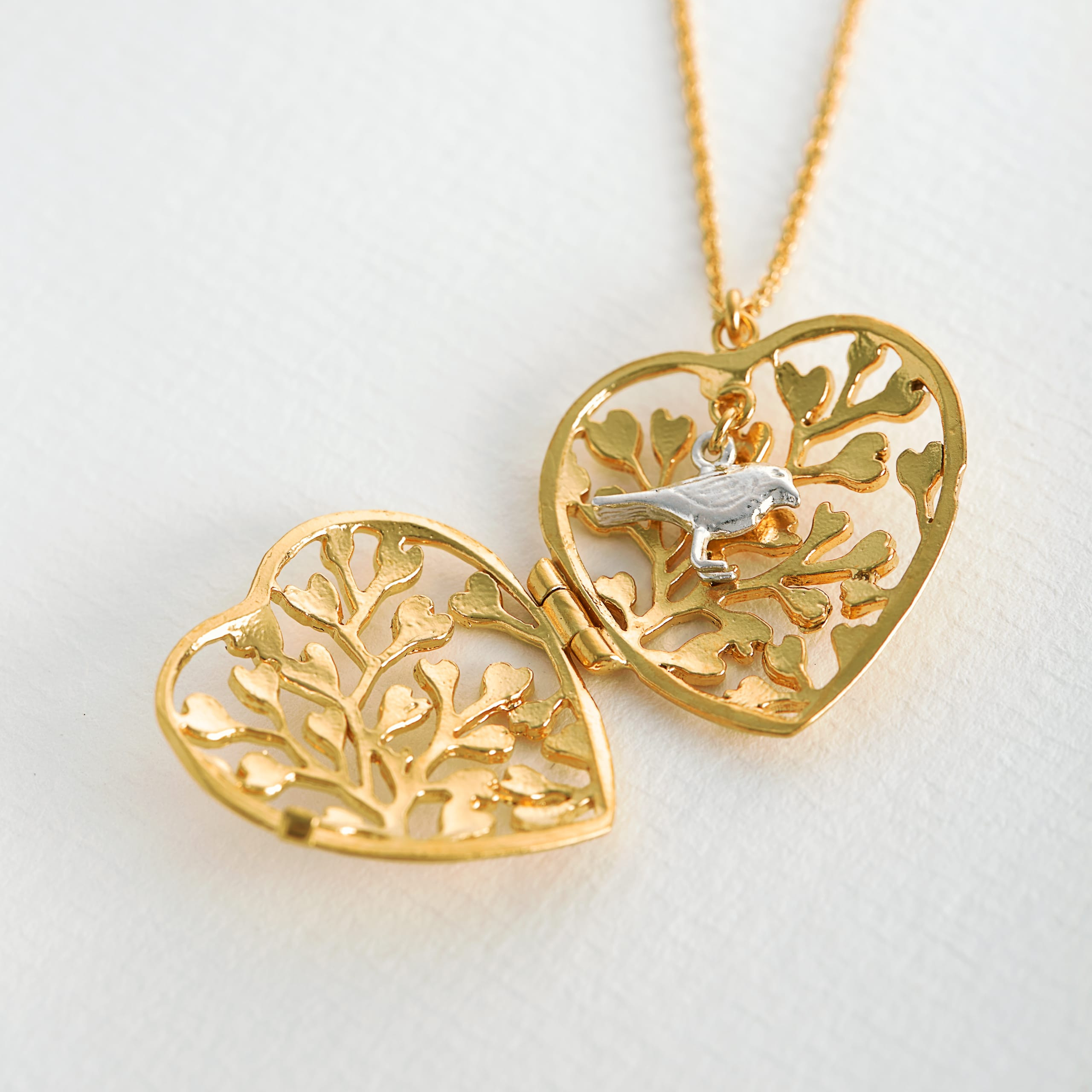 Lace Fern Heart Locket In Most Up To Date Heart Locket Plate Necklaces (View 11 of 25)