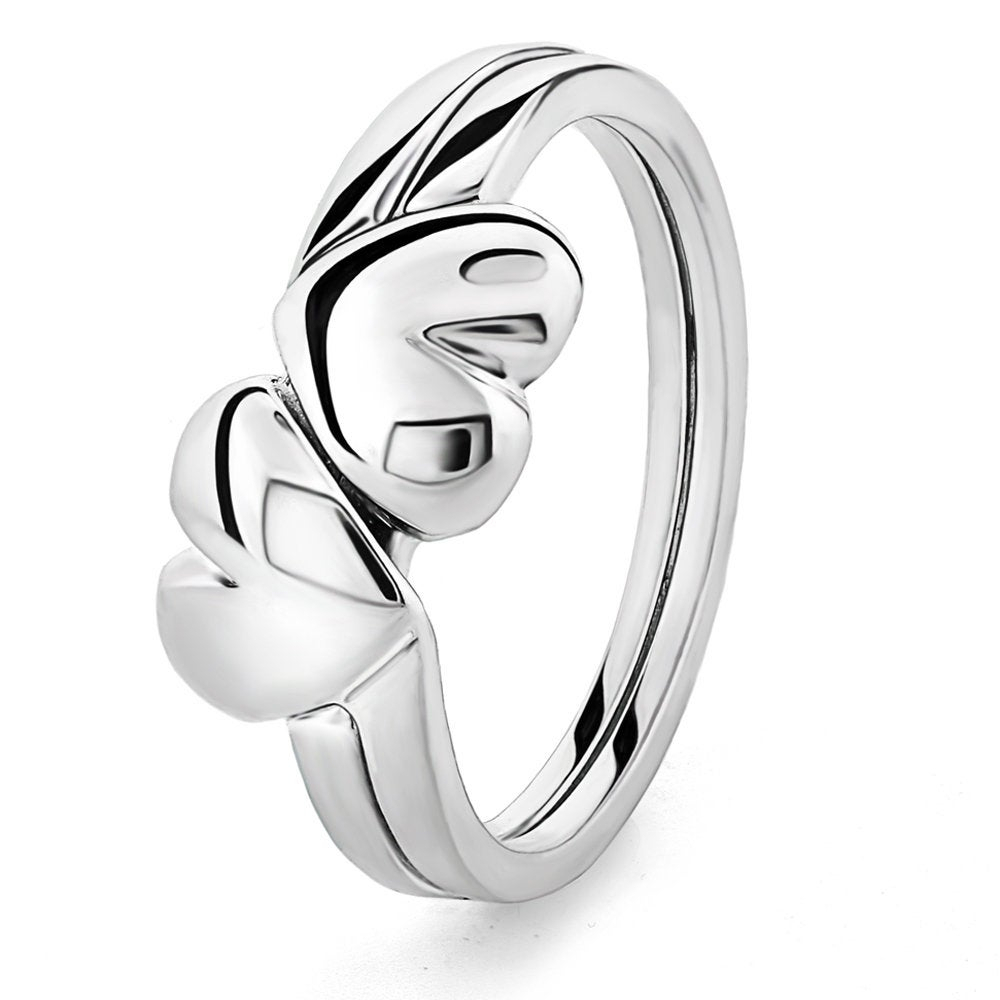 Featured Photo of Polished Heart Puzzle Rings