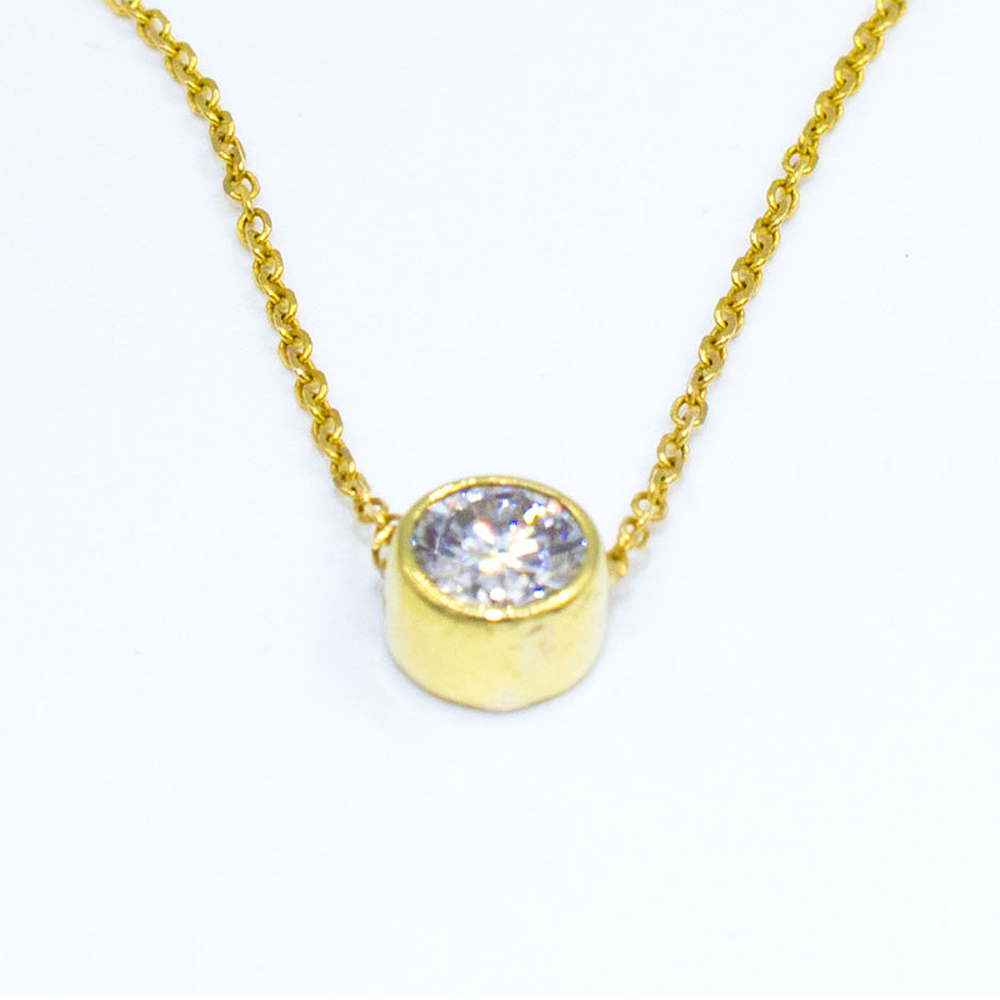 Ladies Cable Chain Necklaces Diamond Pendant In Most Recently Released Cable Chain Necklaces (View 14 of 25)