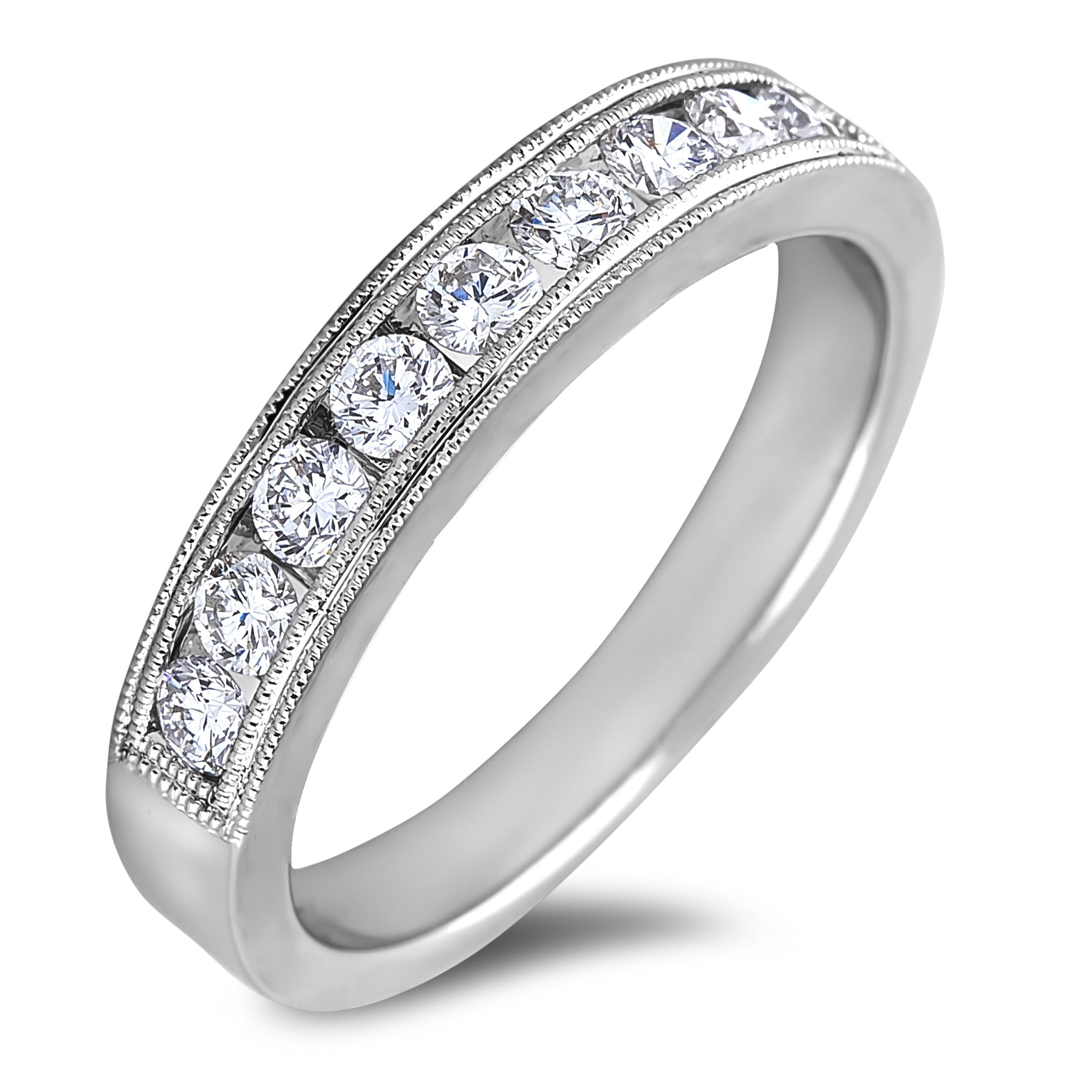 Ladies Diamond Channel Set Wedding Ring For Most Current Diamond Channel Anniversary Bands In Gold (View 18 of 25)