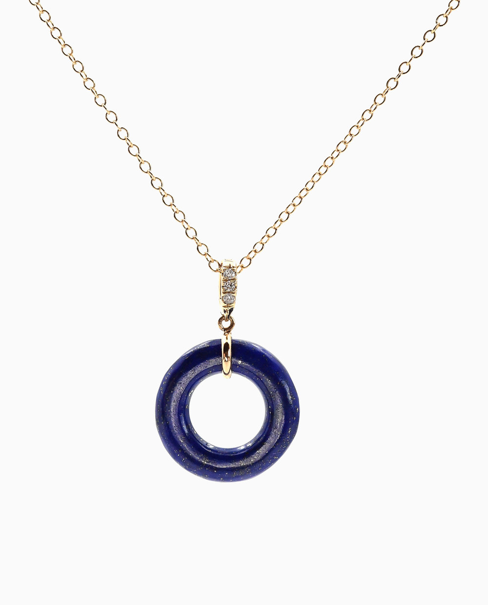 Lapis Munchkin Cable Chain Necklace With Regard To Current Cable Chain Necklaces (View 17 of 25)