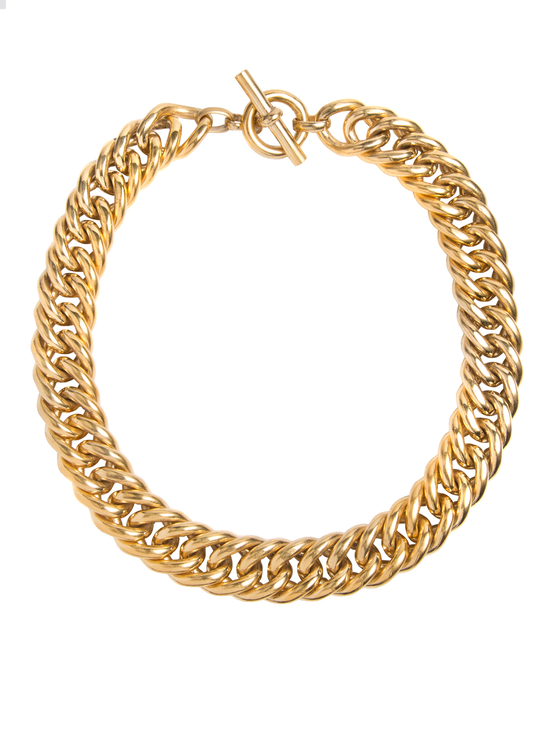 Large Gold Curb Chain Necklace – Tilly Sveaas Jewellery Pertaining To Best And Newest Curb Chain Necklaces (View 8 of 25)