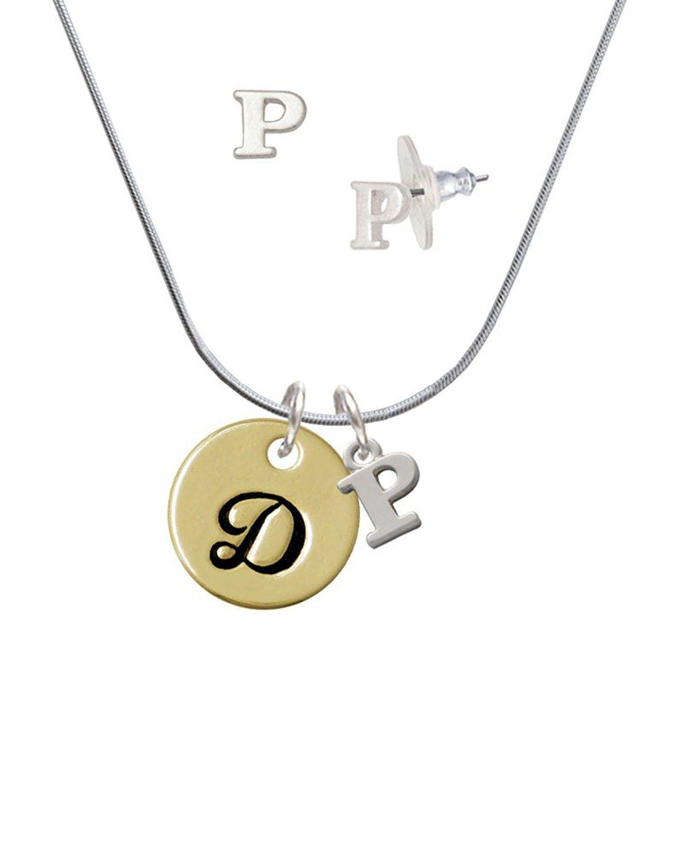 Large Gold Tone Disc Letter – D – 3/4'' – P Initial Charm Necklace Regarding Most Current Letter D Alphabet Locket Element Necklaces (View 15 of 25)