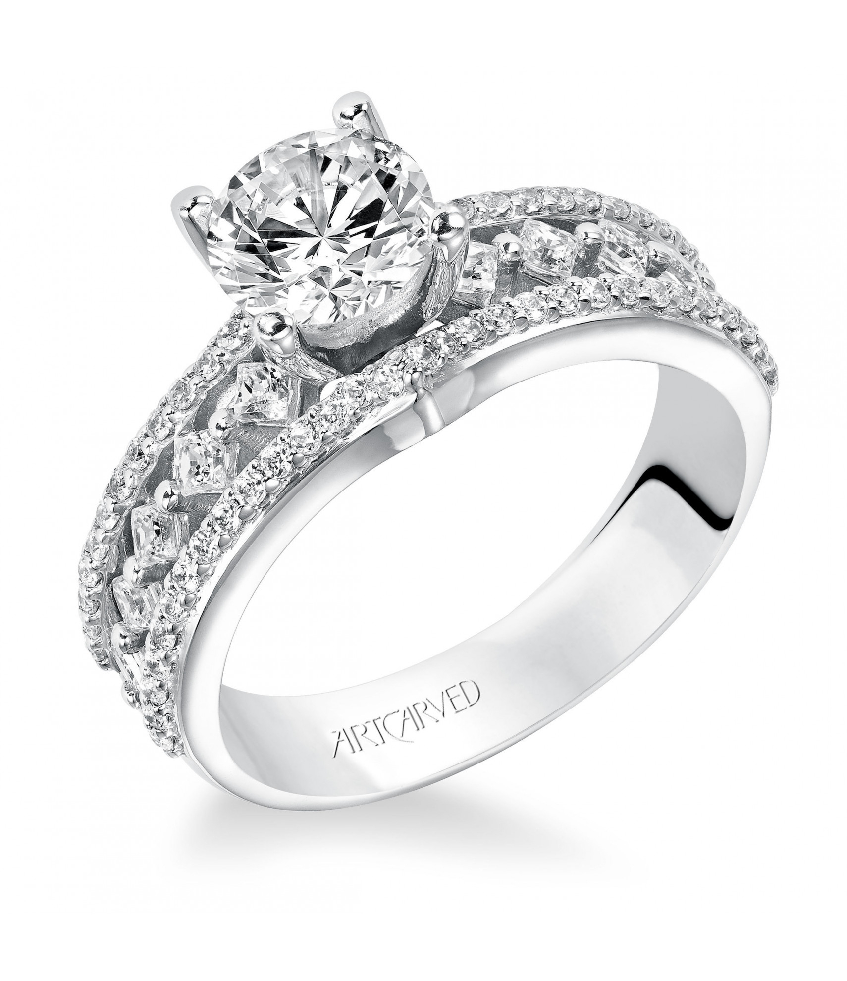 Lauren Pertaining To Newest Enhanced Black And White Diamond Three Row Anniversary Bands In White Gold (View 13 of 25)
