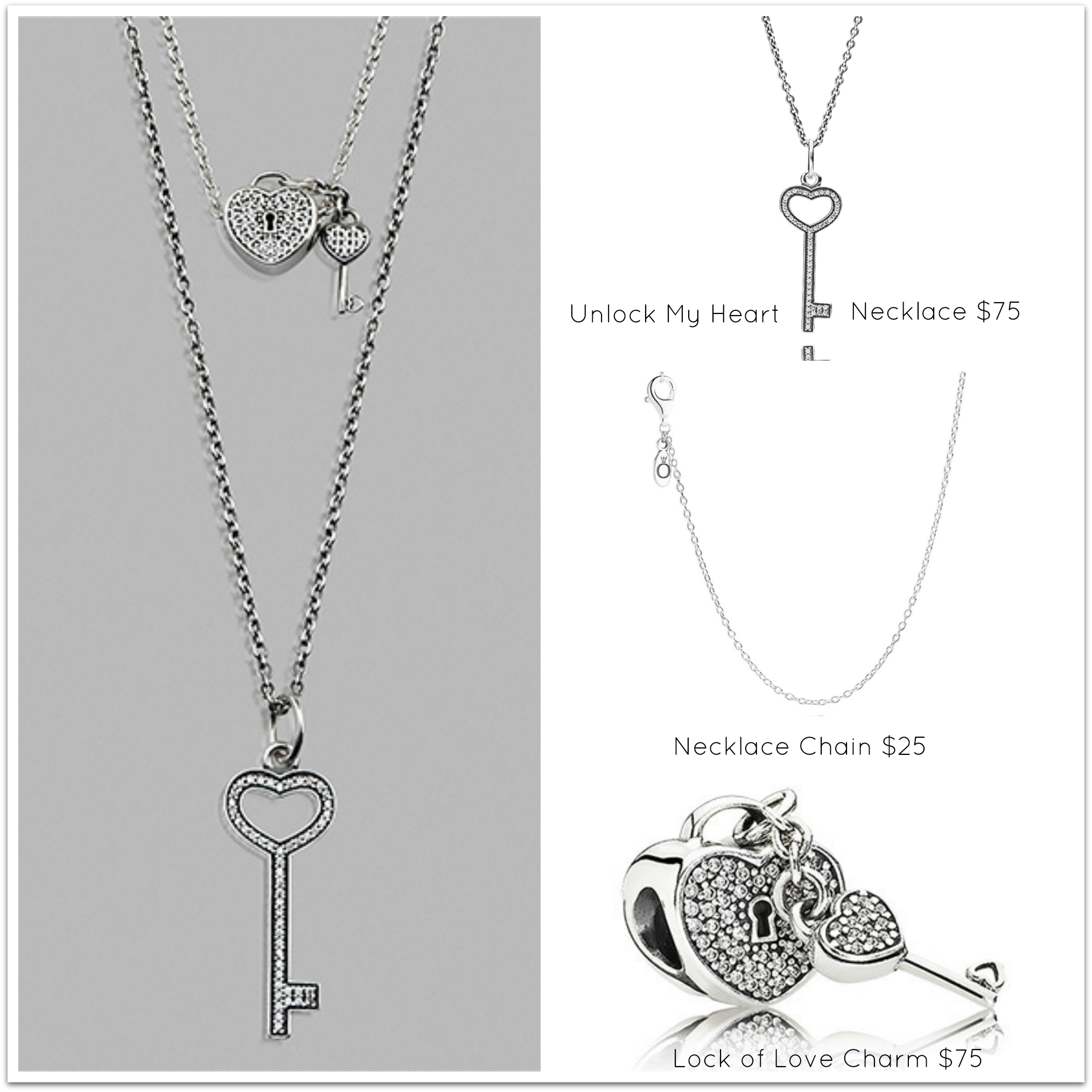 Layering Pandora Necklaces | Pandora Midland, Texas | Midland Park Mall Intended For Best And Newest Pandora Lockets Logo Heart Dangle Charm Necklaces (View 8 of 25)
