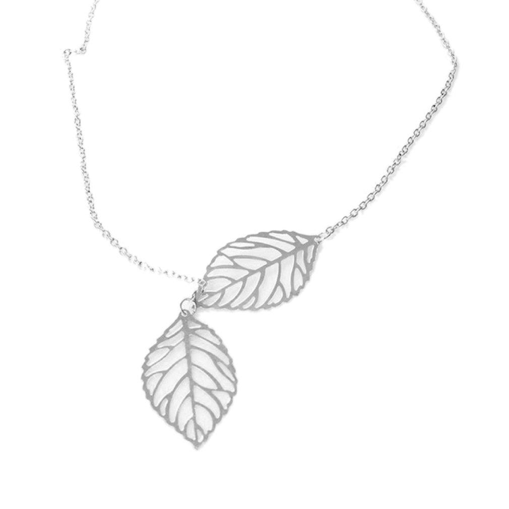Leaf Pattern Simple Stylish Necklace Jewelry Elegant Shiny Zircon Necklace Inside Current Shining Leaf Pendant Necklaces (Gallery 20 of 25)