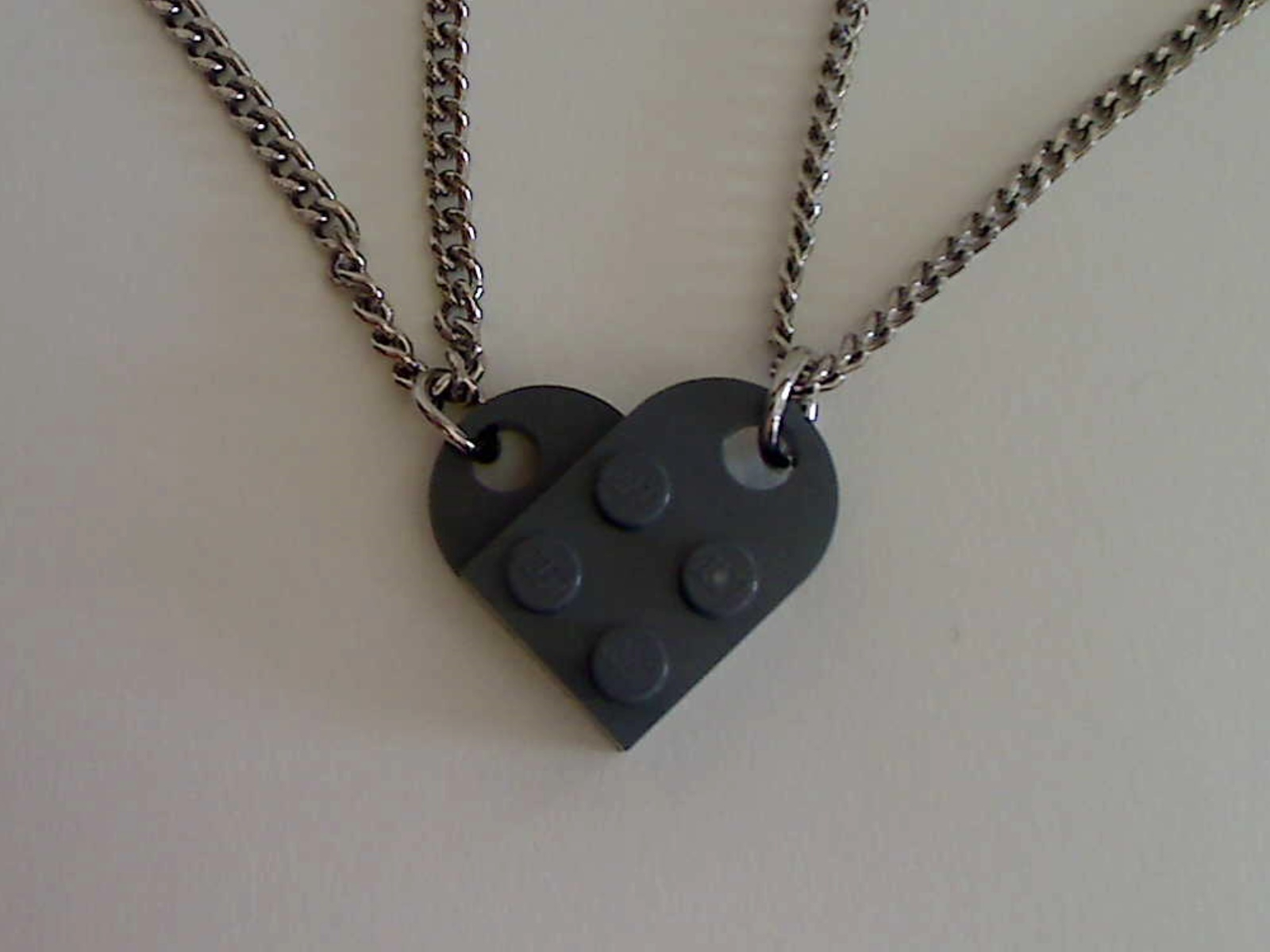 Lego Interlocking Heart Pendants: 4 Steps (With Pictures) Within Most Popular Interlocked Hearts Locket Element Necklaces (Gallery 9 of 25)