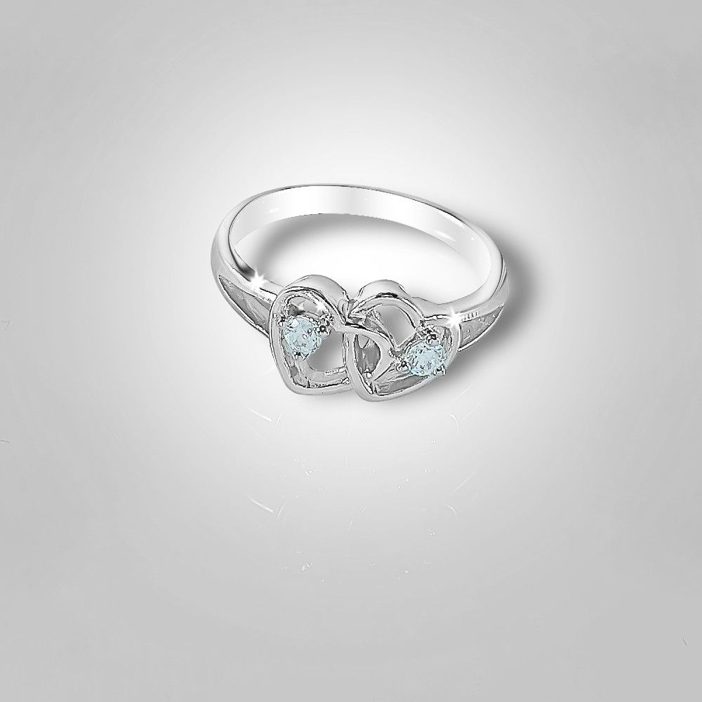 Let The Love Sparkle With This Twin Hearts Silver Ring From Www Inside Latest Sparkle & Hearts Rings (View 13 of 25)