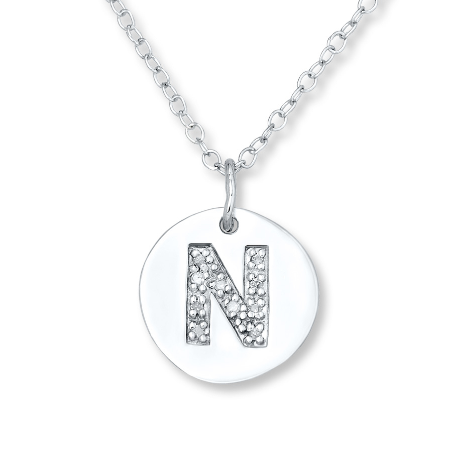Featured Photo of Letter N Alphabet Locket Element Necklaces