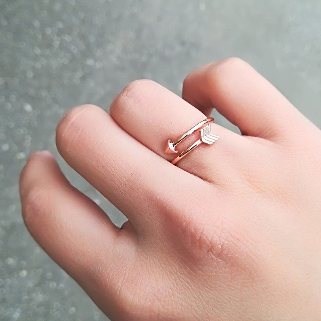 Lila Unique Simple Minimalist Arrow Wrap Adjustable Ring In 2019 For Most Current Wrap Around Arrow Rings (Gallery 24 of 25)