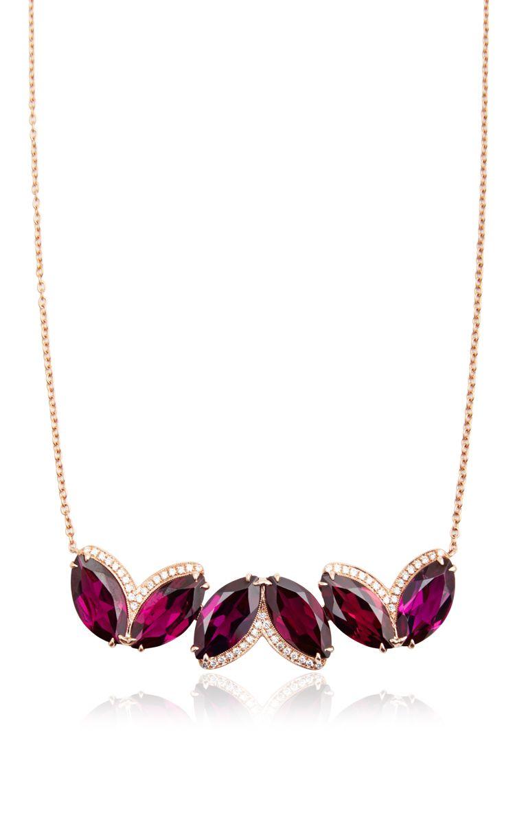 Lindsay Allison Rhodolite Garnet Necklace   Pendant   Garnet Within Most Popular Garnet January Droplet Pendant Necklaces (View 11 of 25)
