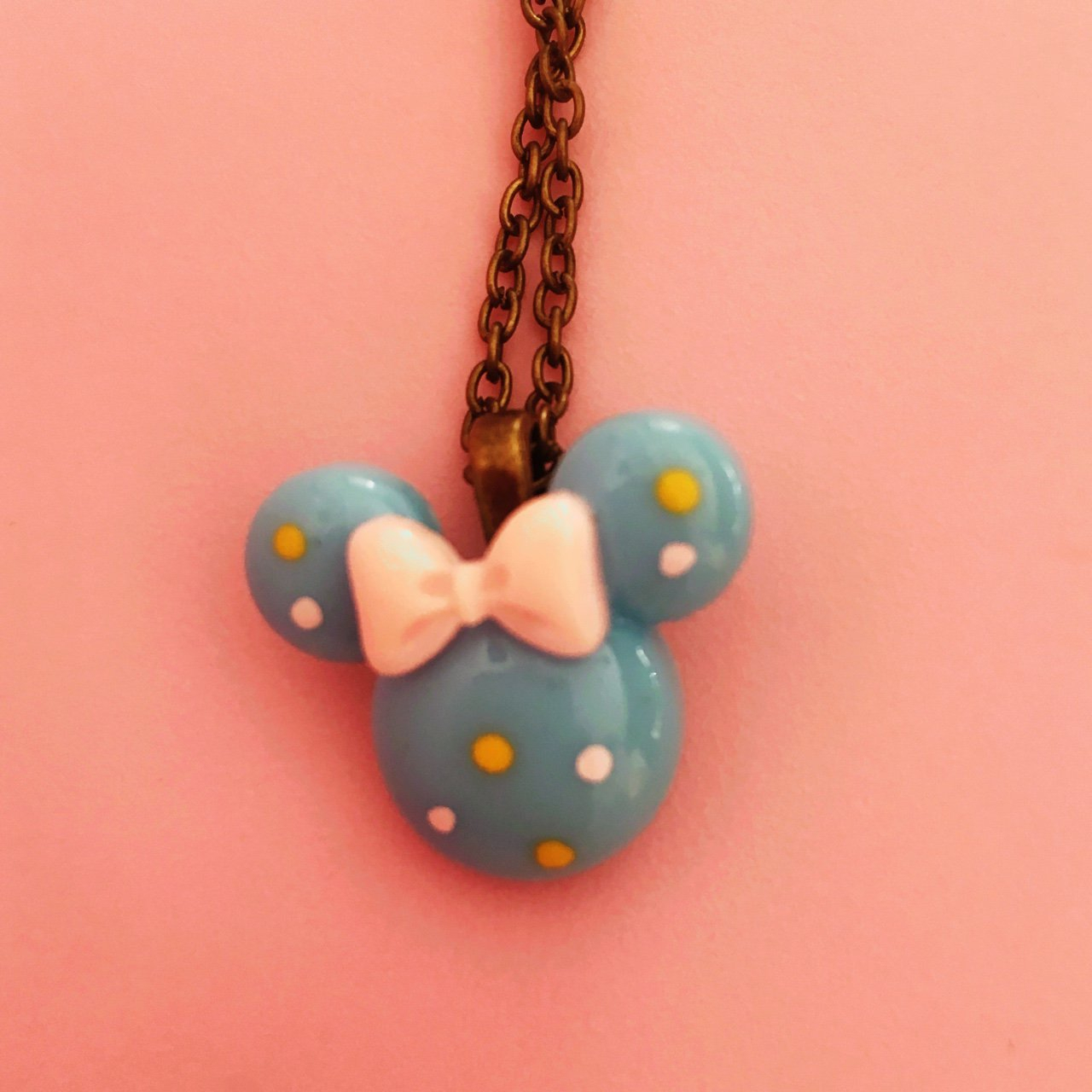 Listed On Depopthecupcakequeen Inside Most Popular Disney Minnie's Polka Dots Pendant Necklaces (View 17 of 25)