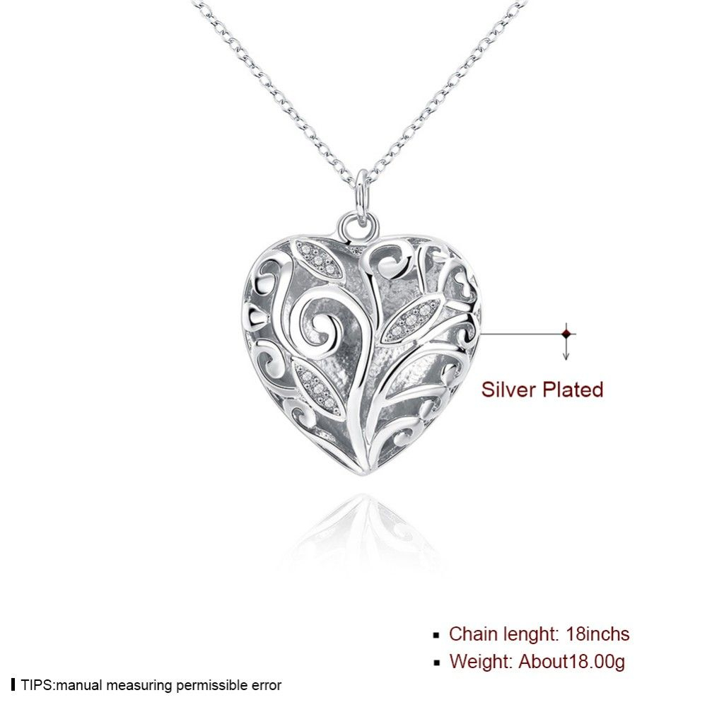 Lknspcn224 03new | 925 Necklaces In 2019 | Heart Locket, 925 Silver In Recent Heart Locket Plate Necklaces (View 15 of 25)