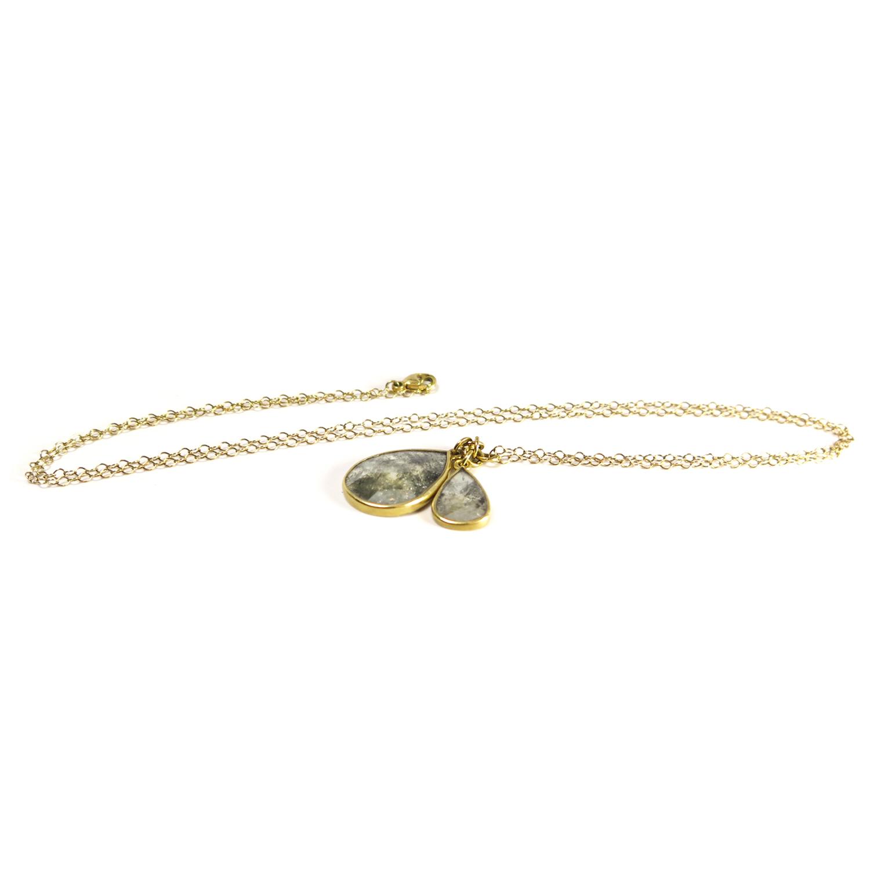 Lola Brooks 18k & Diamond Double Teardrop Necklace, (View 8 of 25)