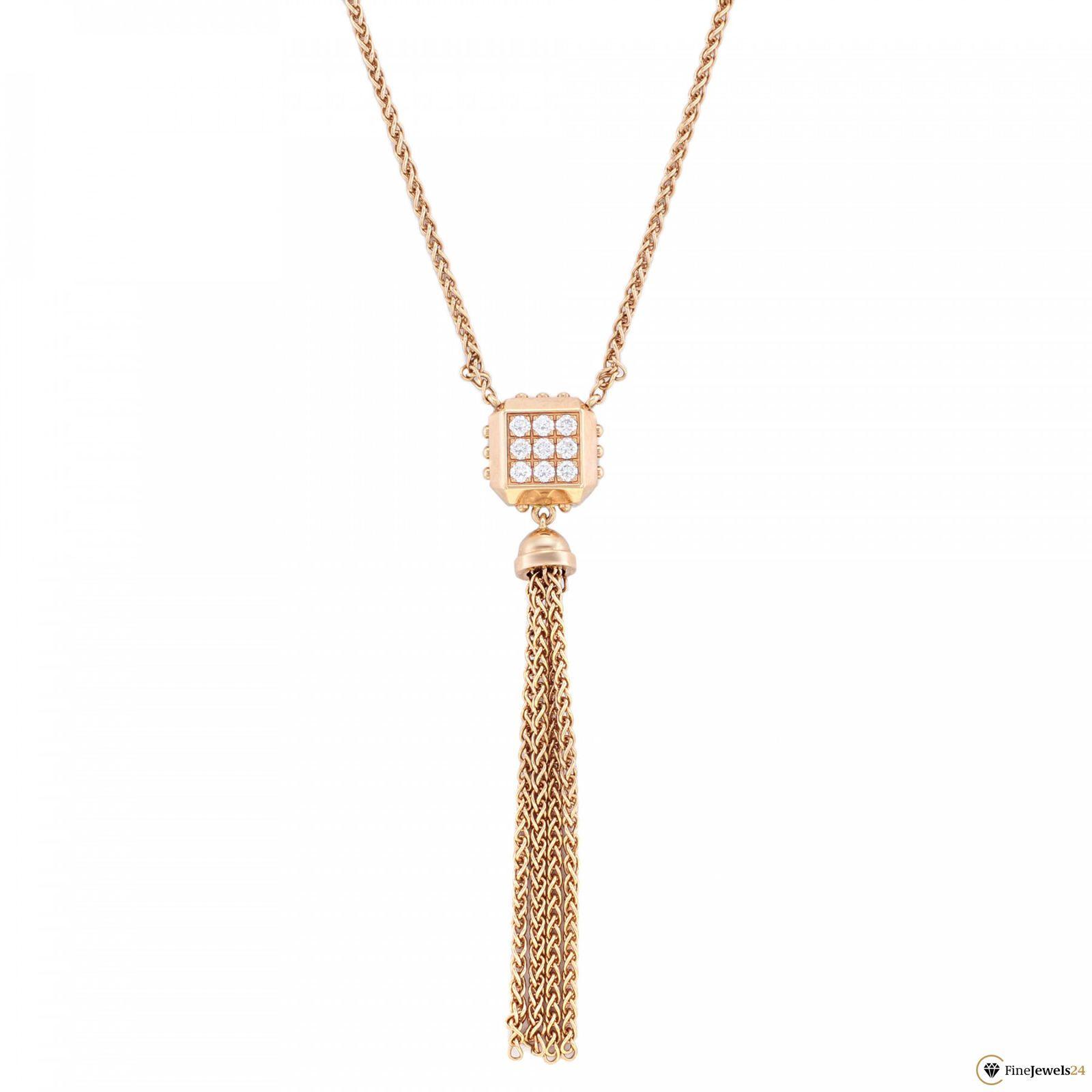 Louis Vuitton Rose Gold Pave Diamond Necklace Pendant (View 18 of 25)
