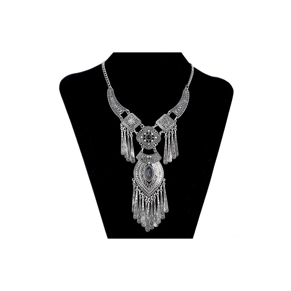 Lovbeafas 2019 Fashion Bohemian Choker Collar Necklace Vintage Tassel  Statement Maxi Long Necklace Women Collier Femme Jewelry Metal Color  Antique Inside 2019 Vintage Circle Collier Necklaces (View 13 of 25)