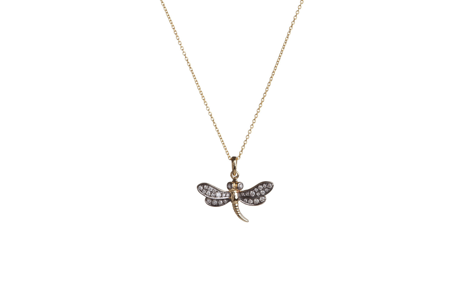 Love Diamonds Dragonfly Necklaceannoushka – Fine Jewellery Throughout Most Current Sparkling Dragonfly Y  Necklaces (View 15 of 25)