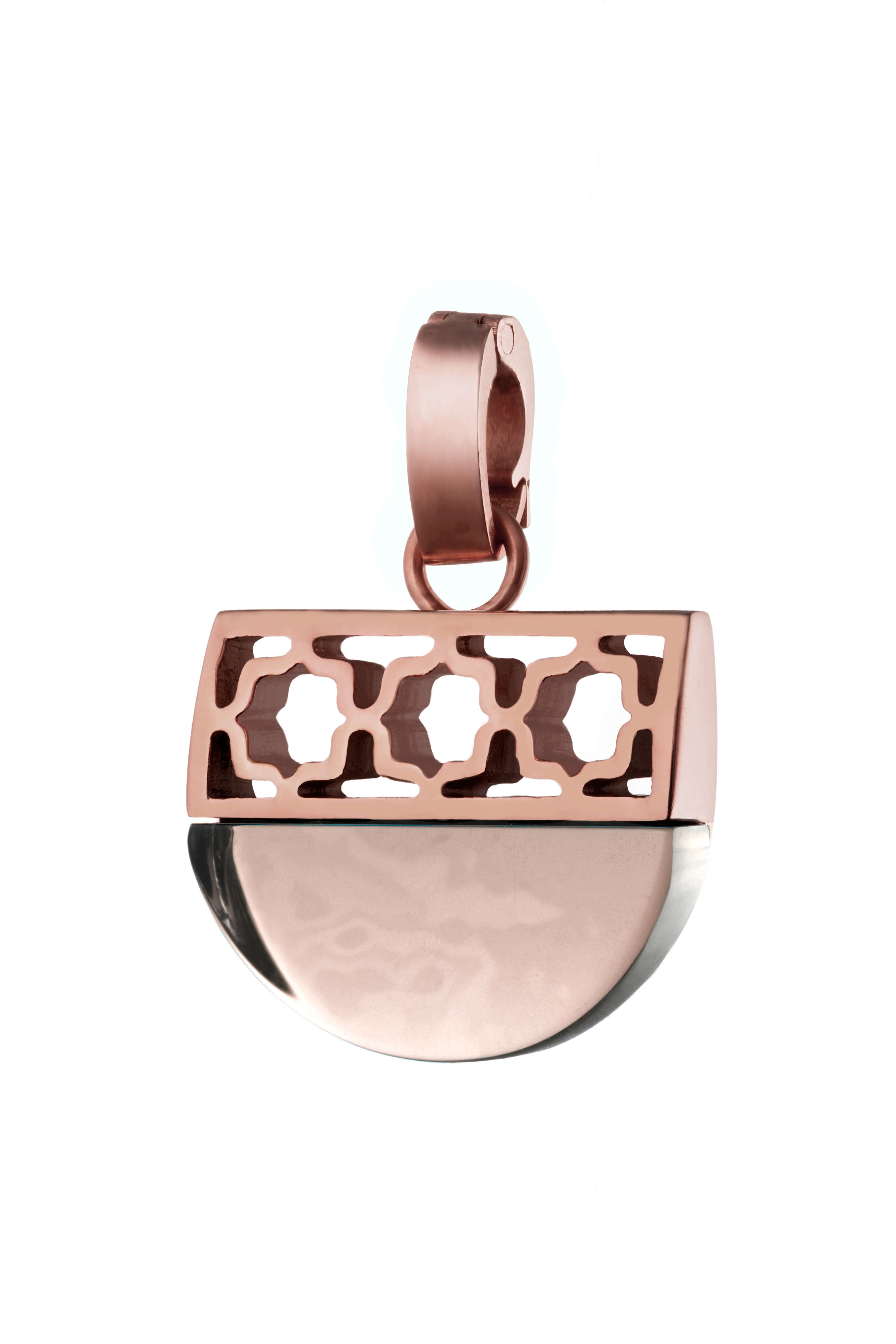 Love Heritage Pendant Rose Gold, Pink Glass Regarding Most Up To Date Pink October Birthstone Locket Element (View 8 of 25)
