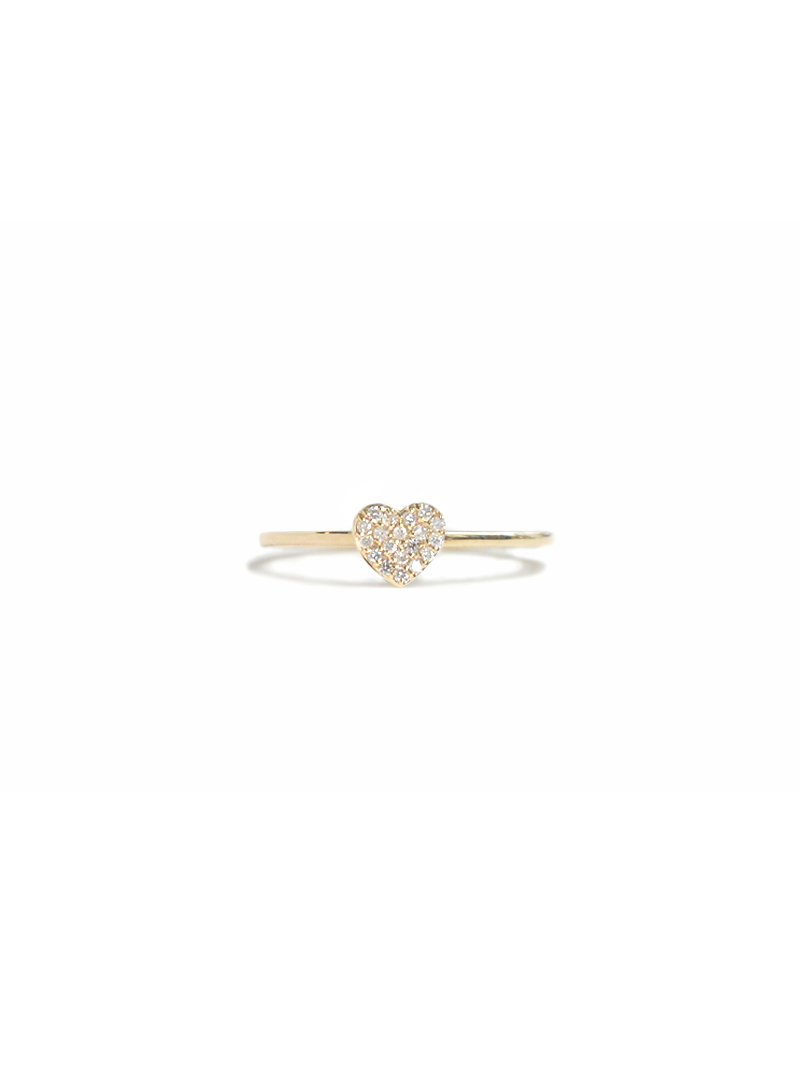 Love Letter Pavé Heart Ring – Diamonds & Gold, Anzie Jewelry Regarding Most Recently Released Pavé Hearts Band Rings (View 10 of 25)