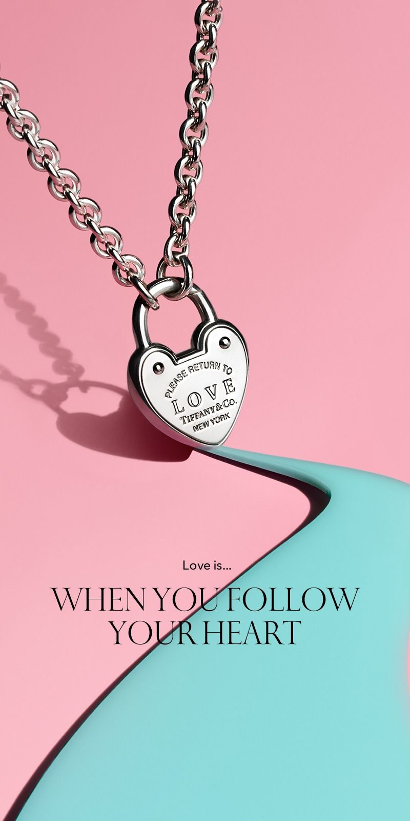 Love Lock Necklace | The Tiffany Valentine's Day Gift Guide In 2019 Regarding Newest Heart & Love You More Round Pendant Necklaces (View 12 of 25)