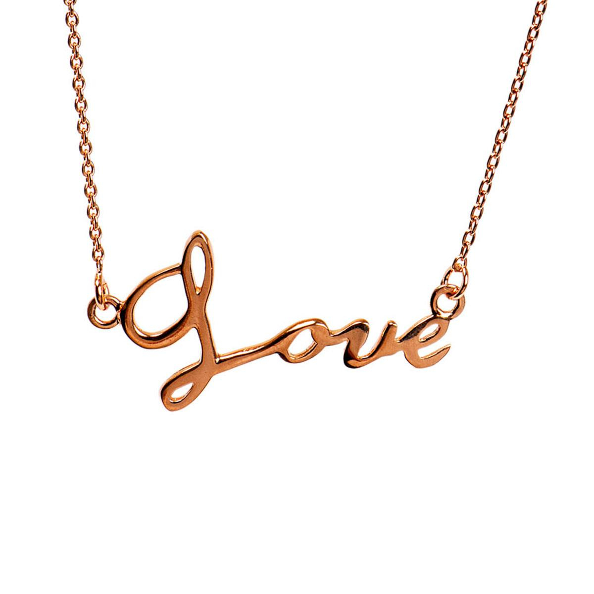 Love Script Necklace | Romantic Gifts For Her | Mantra Jewellery Regarding Most Recent Loved Script Necklaces (View 10 of 25)