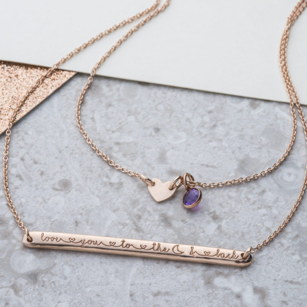 Love You To The Moon And Back Necklace Intended For 2019 Ampersand Alphabet Locket Element Necklaces (Gallery 7 of 25)