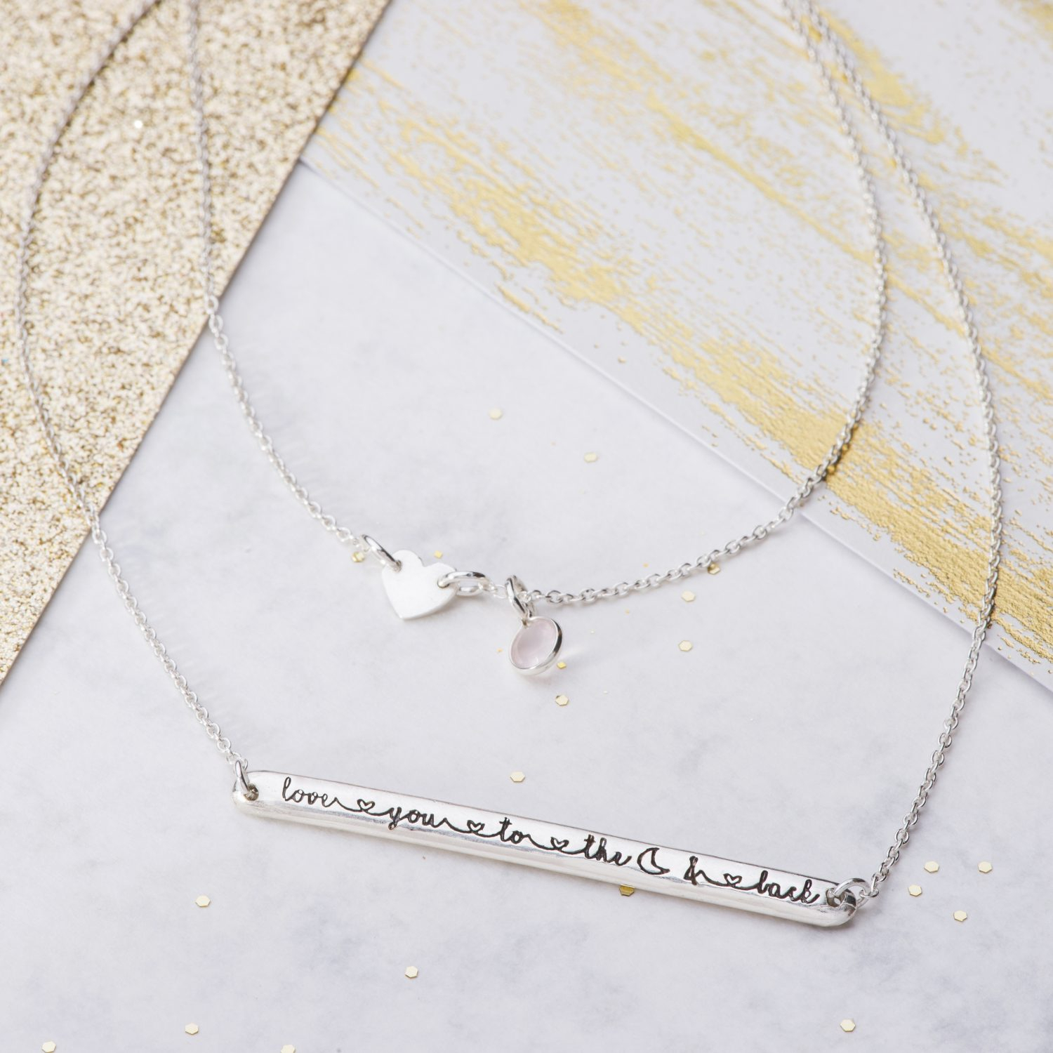 Love You To The Moon And Back Necklace Throughout Most Recent Ampersand Alphabet Locket Element Necklaces (Gallery 9 of 25)