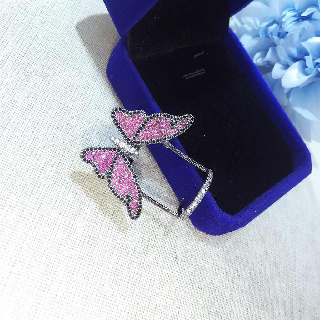 Lovely Ladies Butterfly Ring Open Rings For Women Quality Cubic Zirconia  Jewelry Gifts Pertaining To Best And Newest Butterfly Open Rings (Gallery 14 of 25)