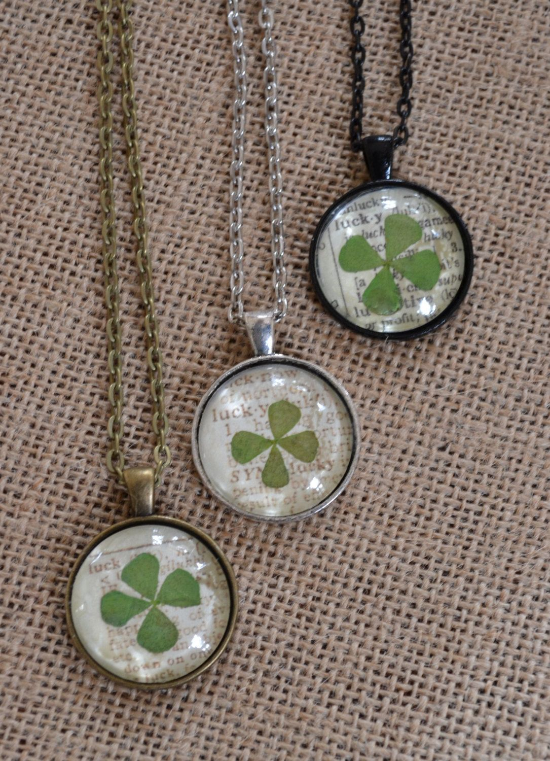 Lucky 4 Leaf Clover Pendant Necklace. $20.00, Via Etsy (View 13 of 25)