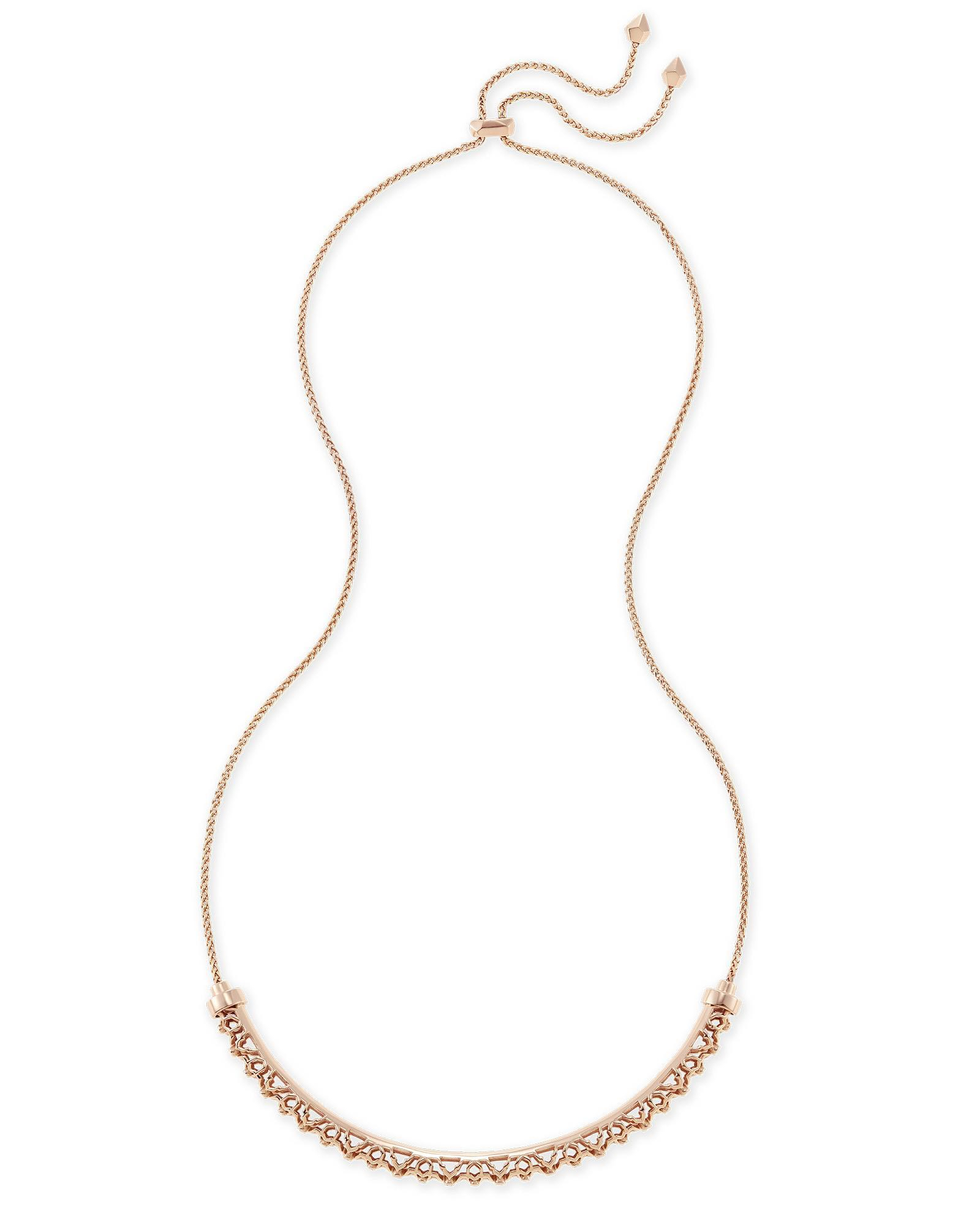 Lucy Choker Necklace In Rose Gold Pertaining To Most Current Gate Of Love Necklaces (View 17 of 25)