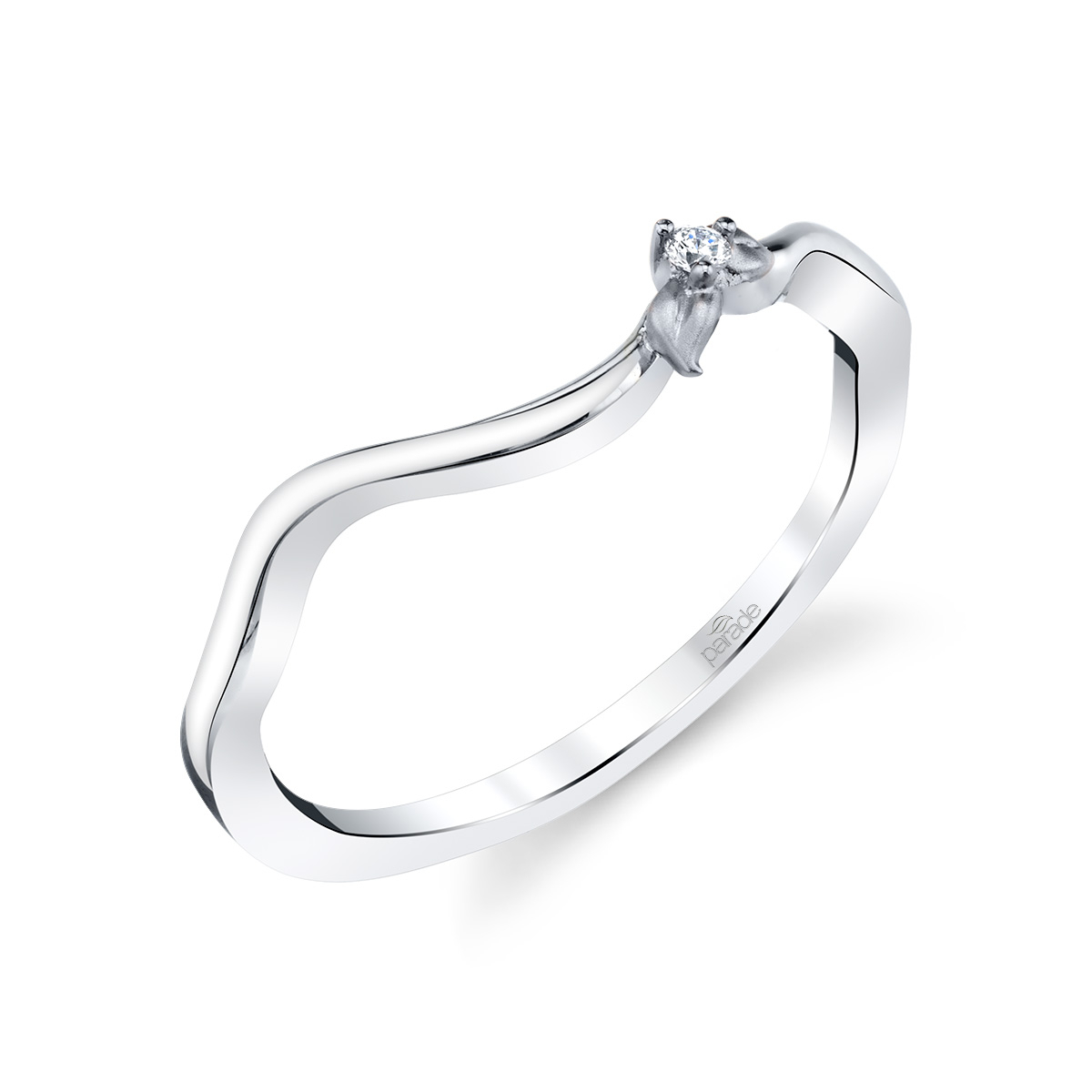 Lyria Bridal R4497 Bd Within Recent Sparkling & Polished Lines Rings (View 12 of 25)