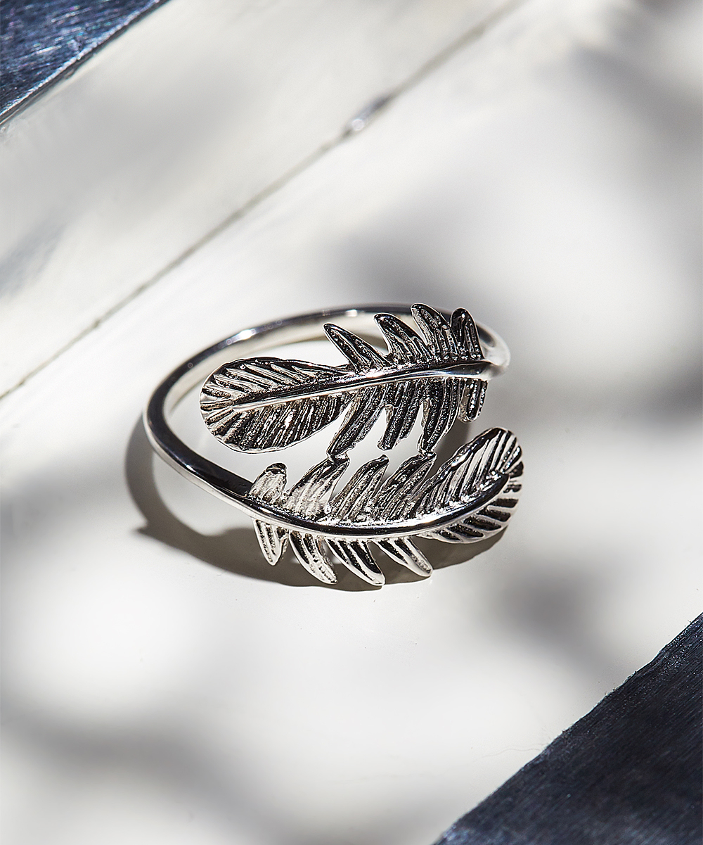 Lyric Sterling Sterling Silver Feather Ring For Best And Newest Shimmering Feather Rings (View 8 of 25)