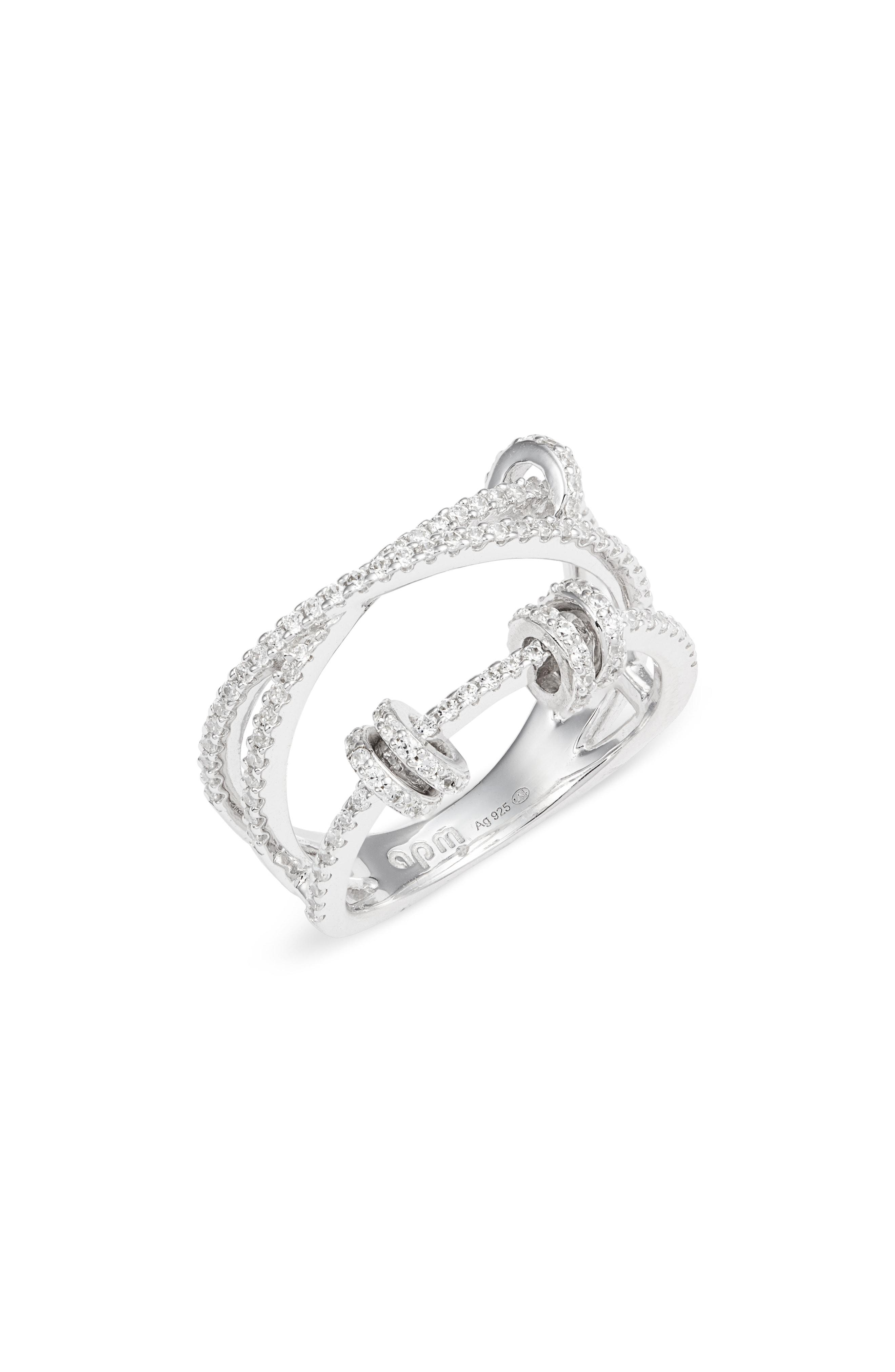 Lyst – Apm Monaco Up & Down Zigzag Ring In Metallic For Most Recently Released Polished Zigzag Rings (Gallery 16 of 25)
