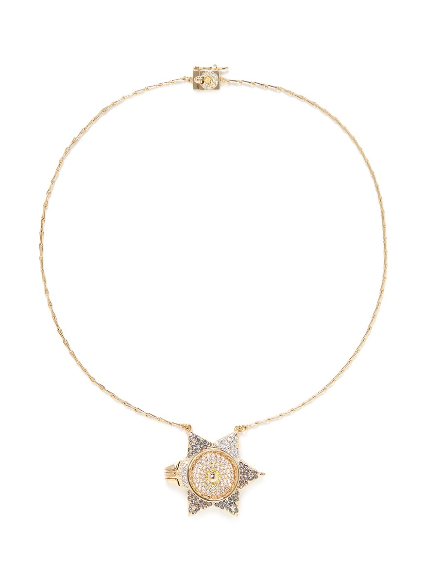 Lyst – Eddie Borgo Pavé Star Locket Pendant In Metallic Within Most Popular Pavé Star Locket Element Necklaces (Gallery 1 of 25)