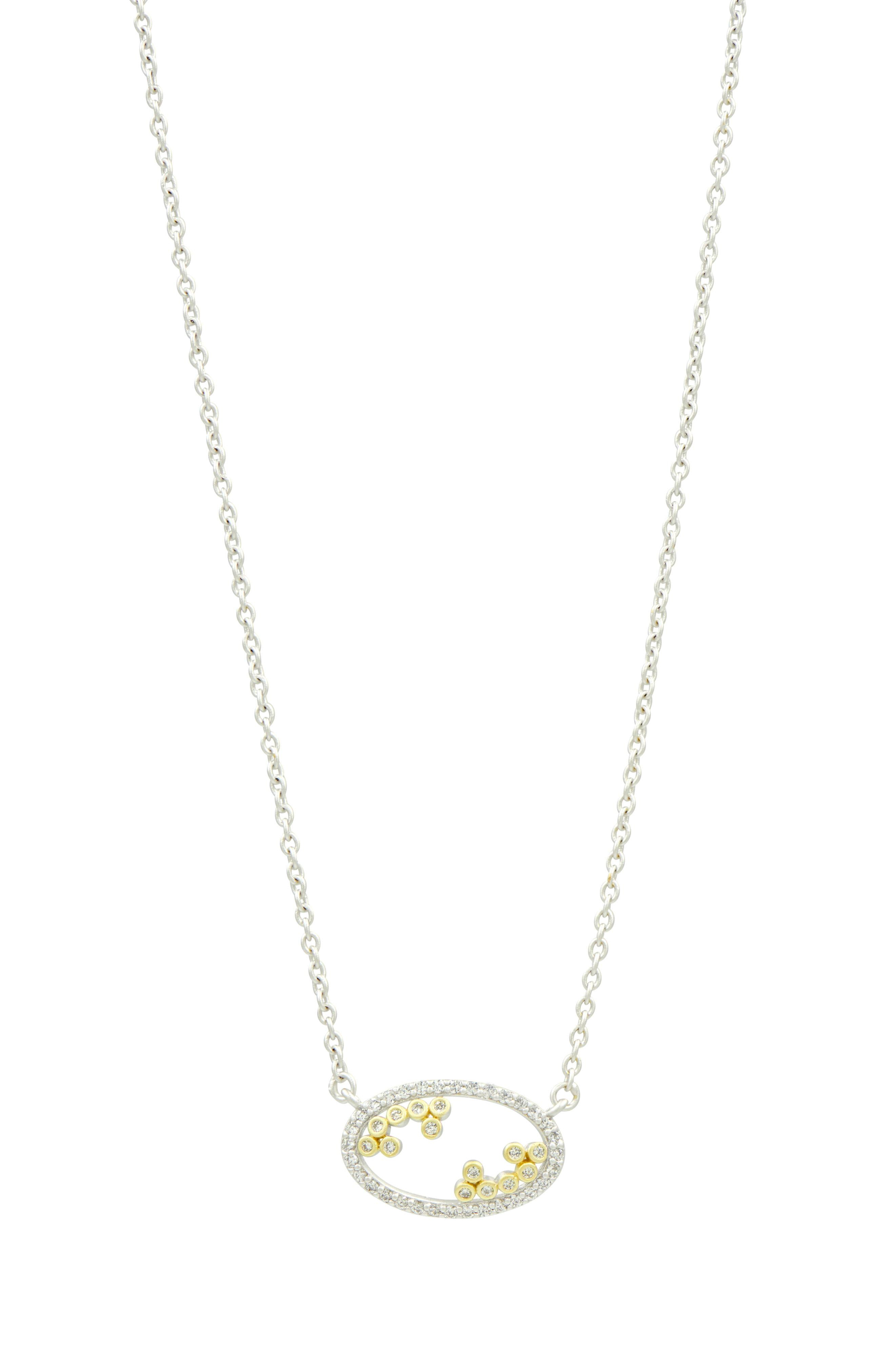 Lyst – Freida Rothman Fleur Bloom Open Pendant Necklace In Metallic Throughout 2019 Glorious Bloom Pendant Necklaces (View 13 of 25)