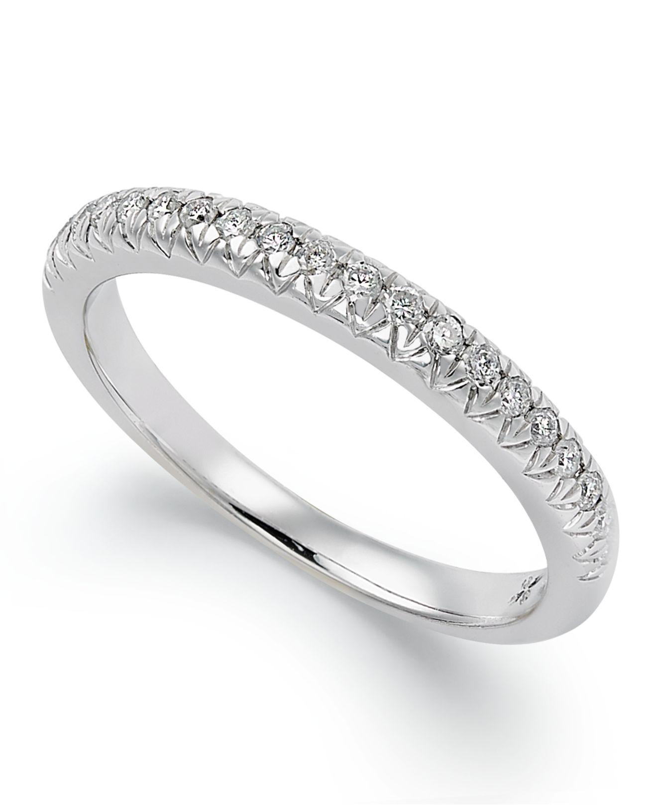 Lyst – Macy's Certified Diamond Anniversary Band Ring In 18K For Most Popular Certified Diamond Anniversary Bands In White Gold (View 6 of 25)