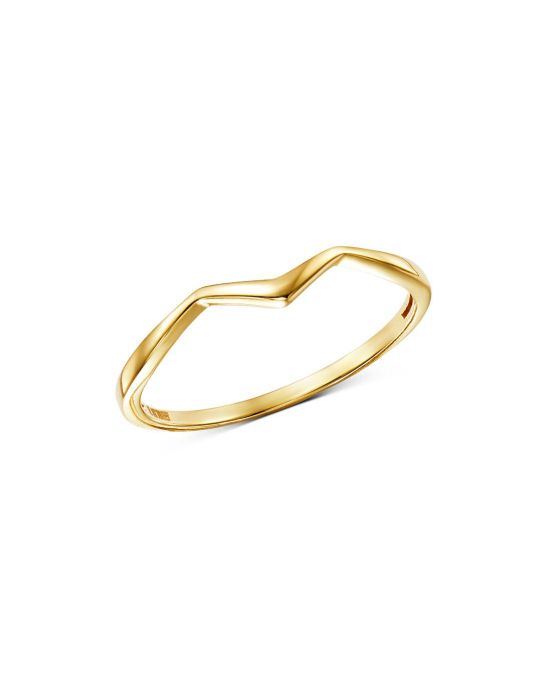 Lyst – Moon & Meadow Polished Zigzag Ring In 14K Yellow Gold In Metallic Intended For 2018 Polished Zigzag Rings (Gallery 1 of 25)