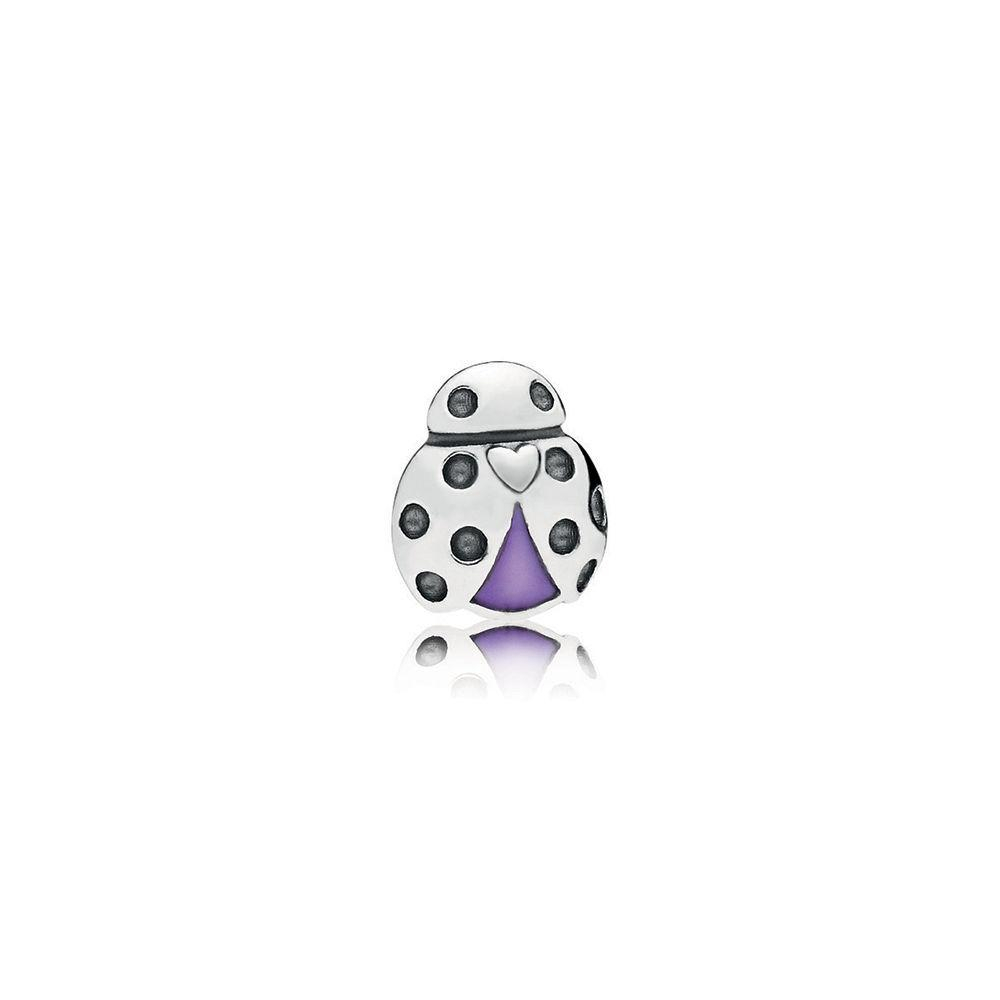 Lyst – Pandora Ladybug Petite Locket Charm In Purple For Newest Purple Ladybird Locket Element Necklaces (View 11 of 25)