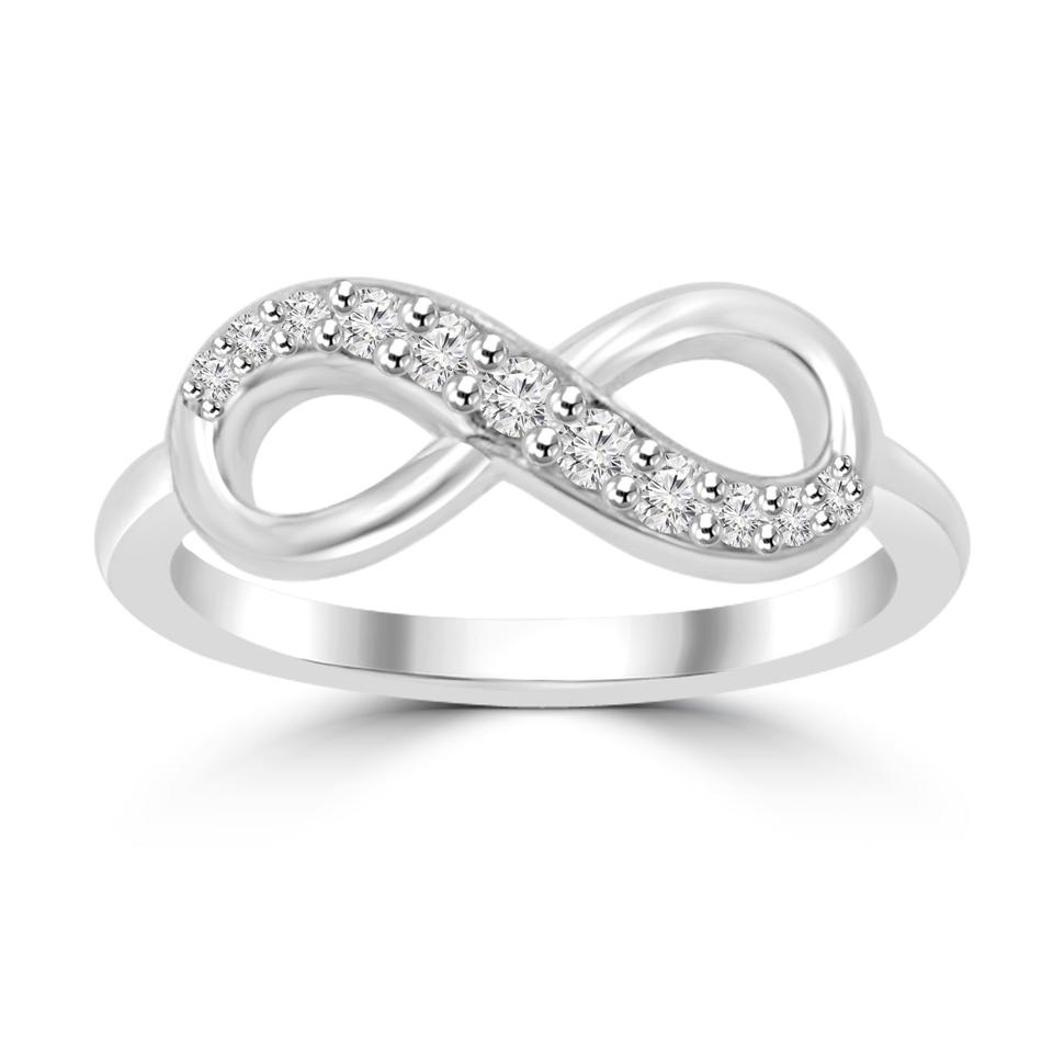 Madina Jewelry Platinum 0.16 Ct Ladies Round Cut Diamond Anniversary Band Ring 66% Off Retail Within Best And Newest Diamond Anniversary Bands In Platinum (Gallery 14 of 25)