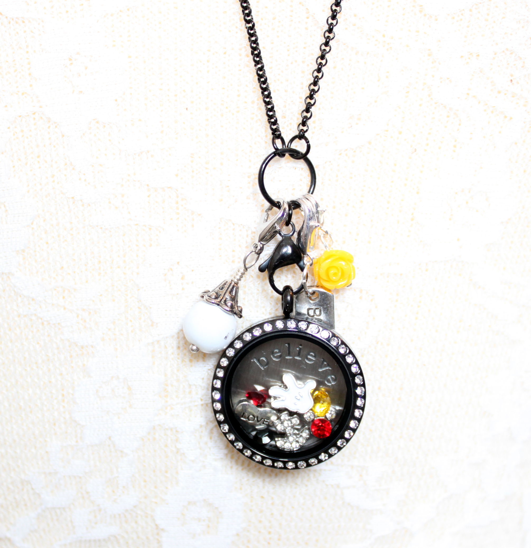 Magic Mickey Mouse Floating Locket And Charm Collection | Spilled With Regard To Newest Disney Mickey Floating Locket Necklaces (View 5 of 25)