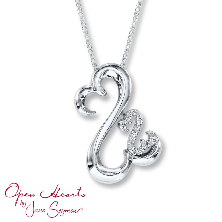 Mainview | Jewelry That I Love | Diamond Pendant Necklace, Jewelry Regarding Recent Open Heart Necklaces (View 10 of 25)