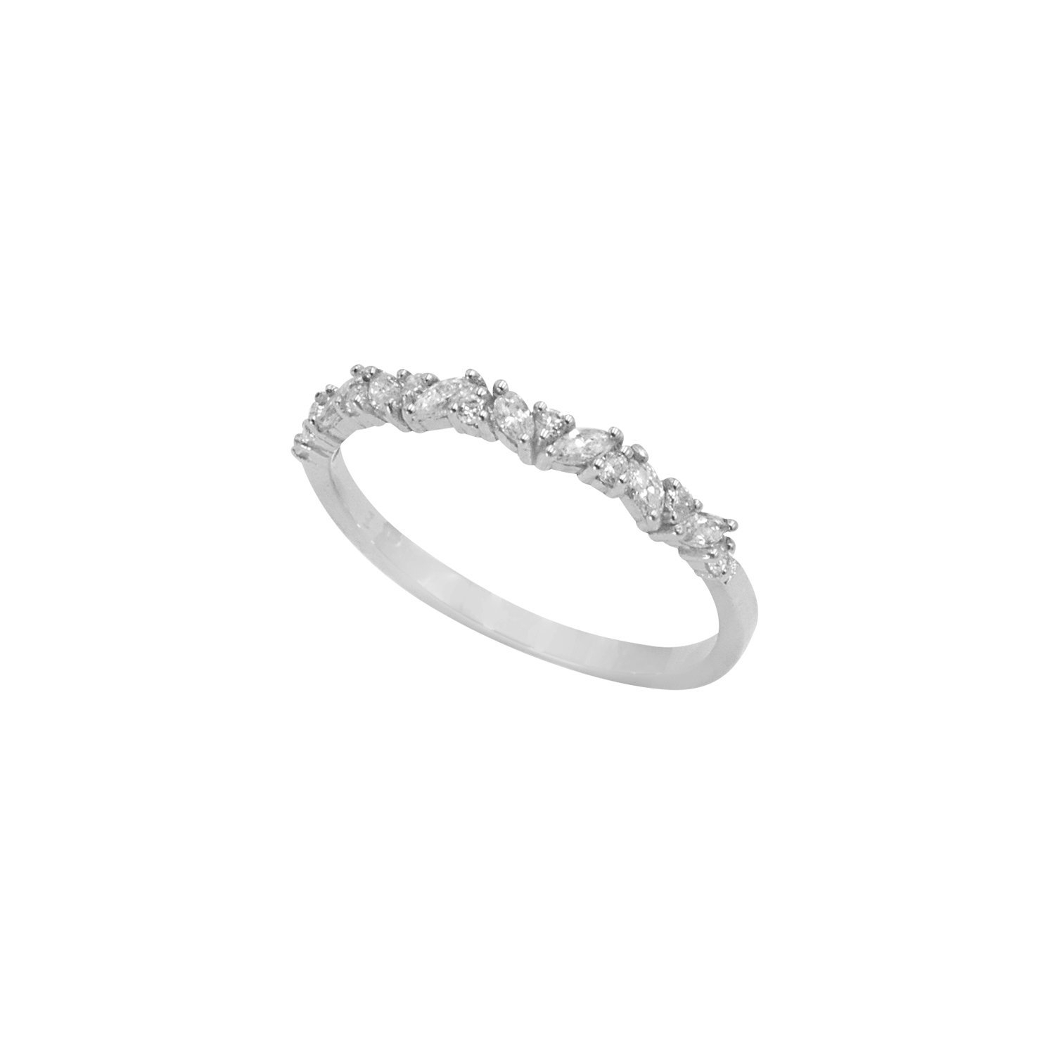 Marquise Diamond Ring / Marquise Diamond Wedding Ring In 14K In Newest Marquise And Round Diamond Alternating Anniversary Bands In White Gold (Gallery 20 of 25)