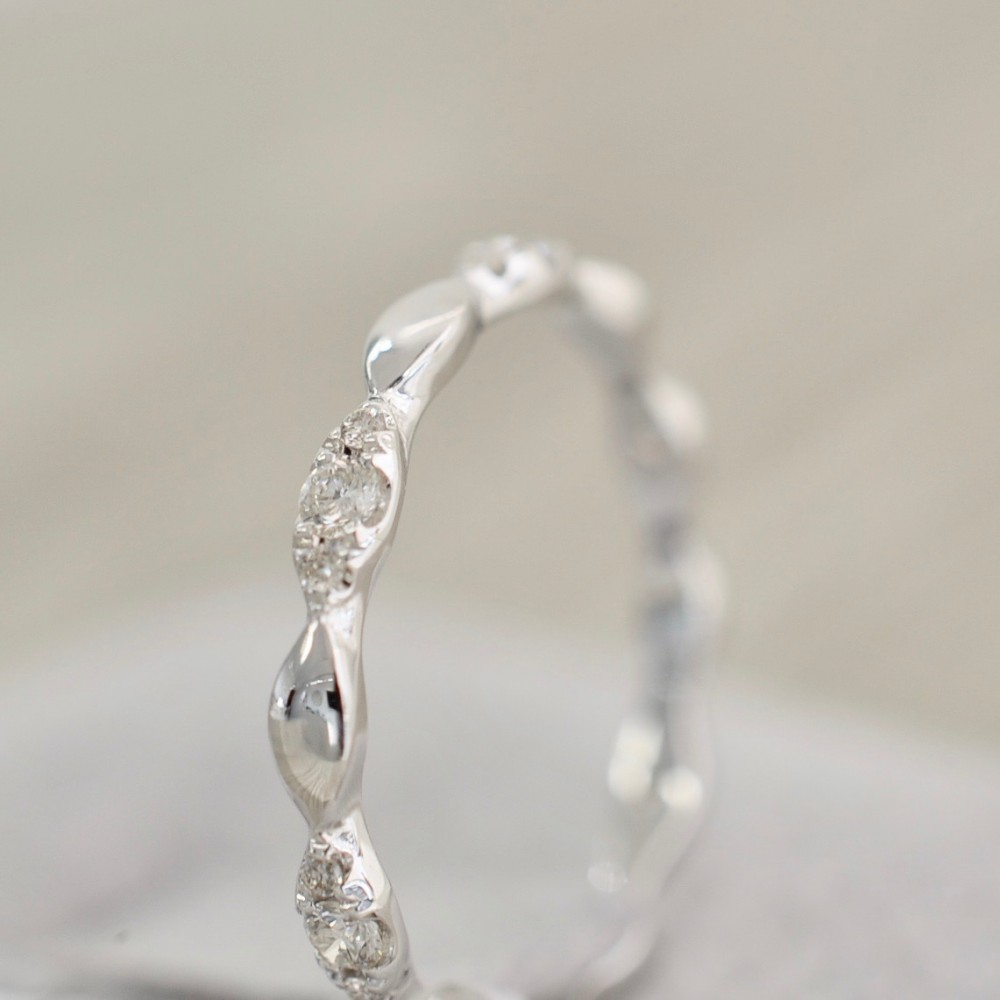 Marquise Shaped Alternating Diamond Eternity Band In White With Current Marquise And Round Diamond Alternating Anniversary Bands In White Gold (Gallery 7 of 25)