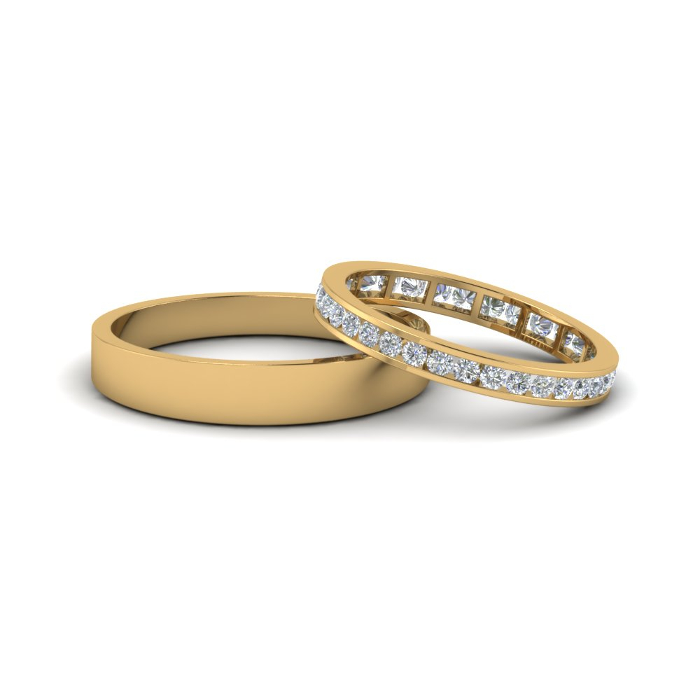 Matching Wedding Bands For Him And Her | Fascinating Diamonds In Most Up To Date Simple Infinity Band Rings (Gallery 10 of 25)