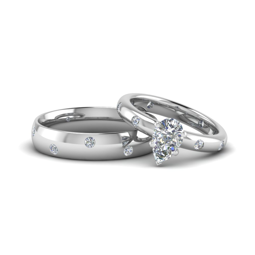 Matching Wedding Bands For Him And Her | Fascinating Diamonds Throughout Most Recently Released Diamond Layered Anniversary Ring In White Gold (View 16 of 25)
