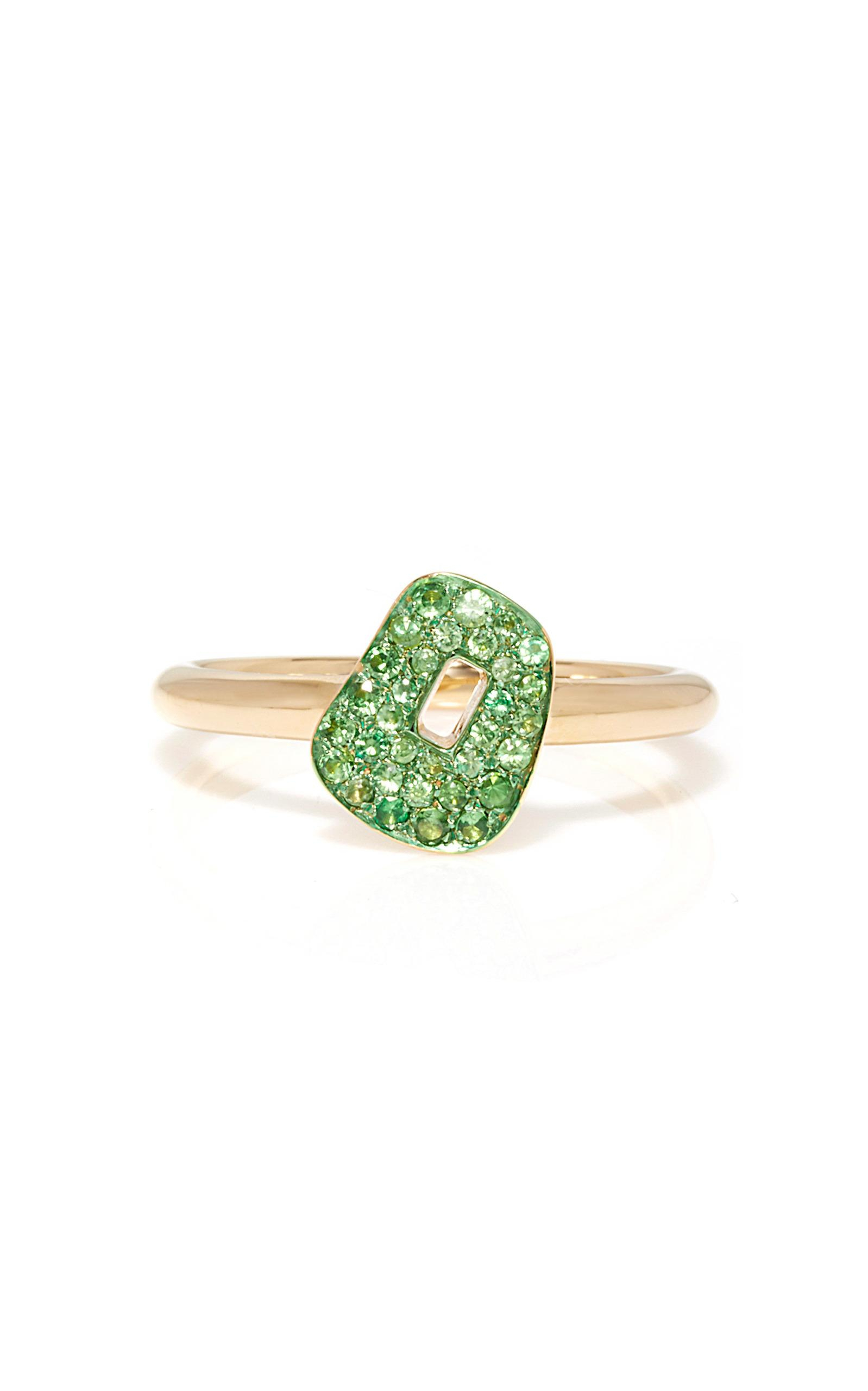 Mattioli Green Puzzle Ring With Tsavorites Within 2018 Pavé Puzzle Heart Rings (Gallery 24 of 25)