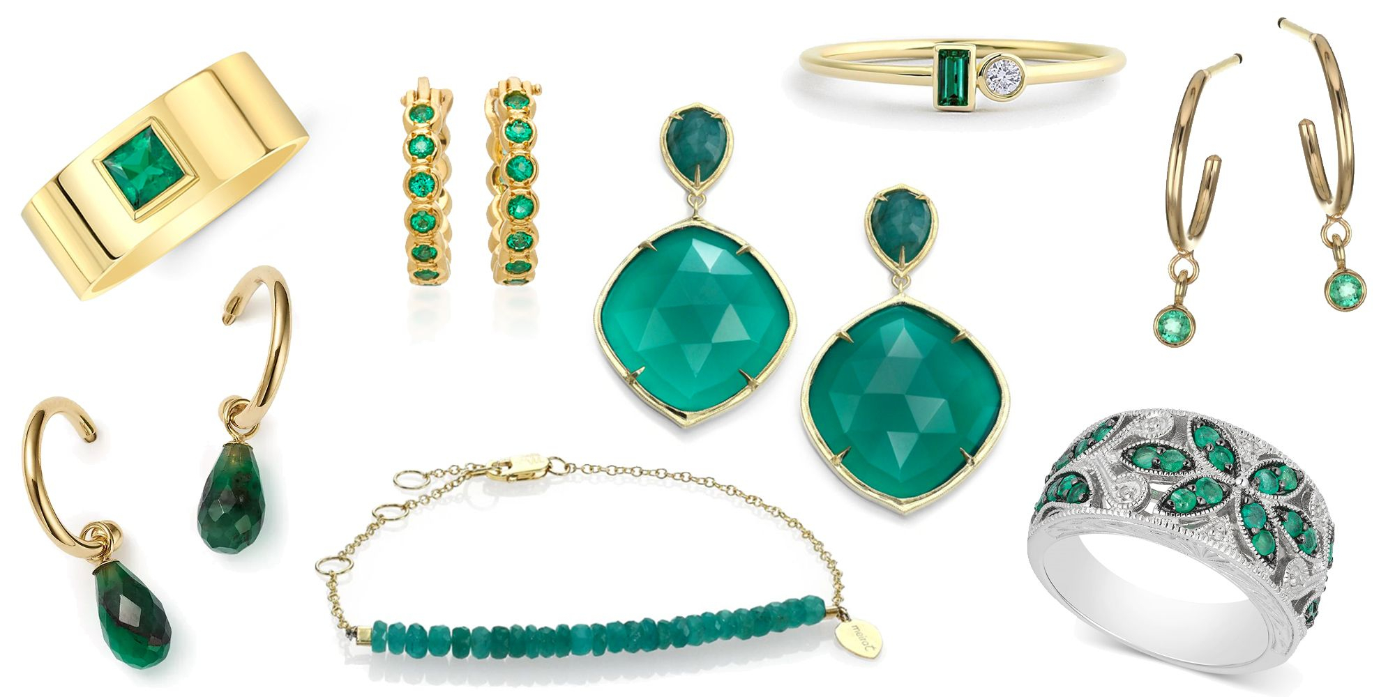 May Birthstone Jewelry – Emerald Birthstone Jewelry With Regard To Most Recently Released Royal Green Crystal May Droplet Pendant Necklaces (View 11 of 25)