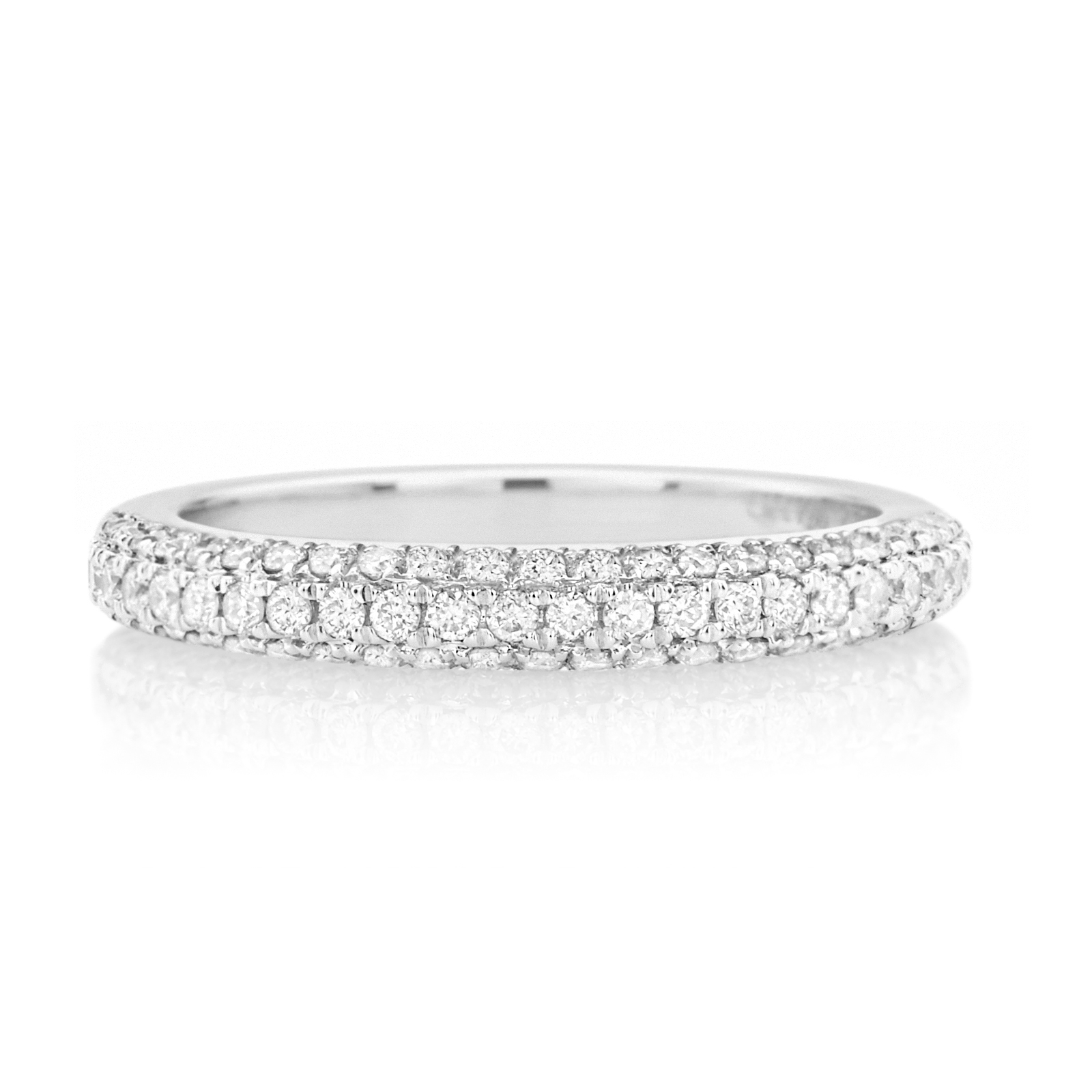 Mazzucchelli's – Celebrating Life's Special Moments Since 1903 In Latest Vera Wang Love Collection Diamond Two Row Anniversary Bands In White Gold (Gallery 8 of 25)